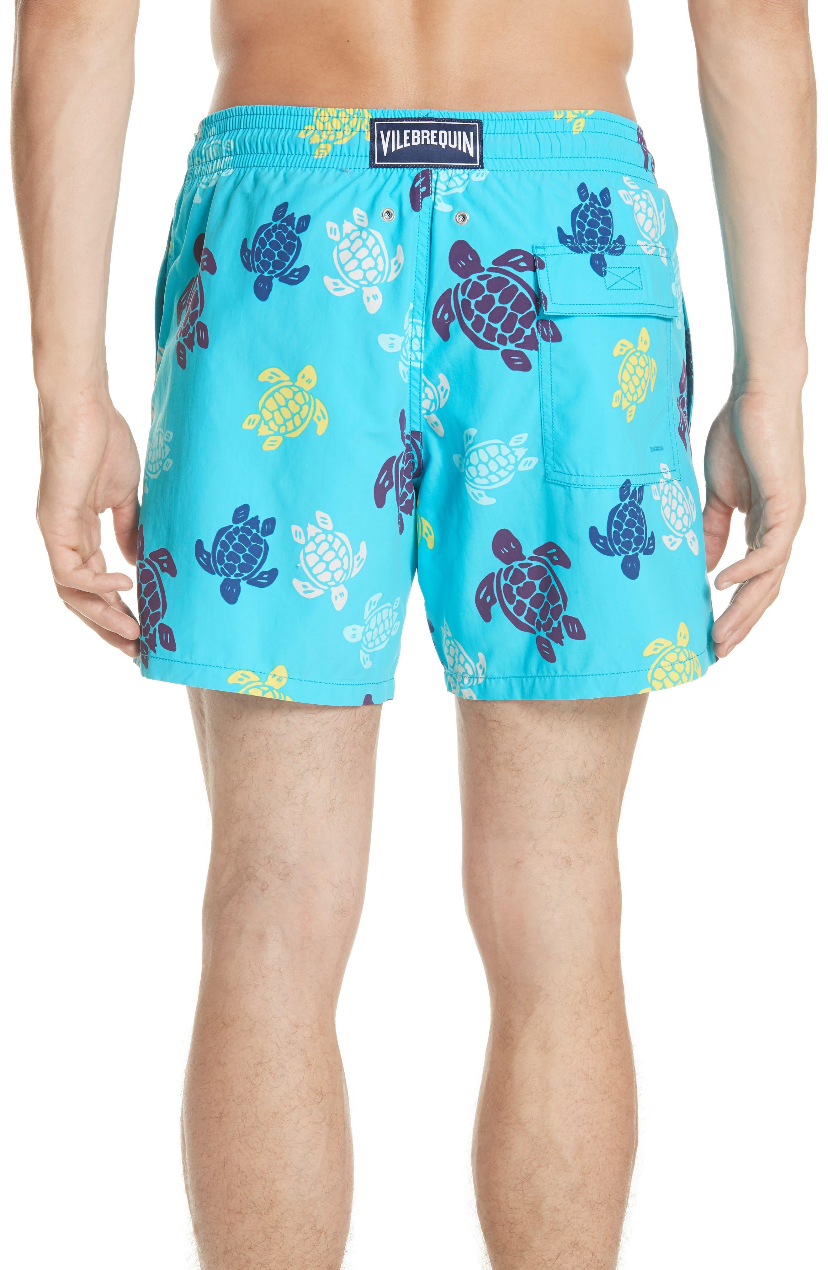 VILEBREQUIN,                             Multicolor Turtle Print Swim Trunks,                             Alternate thumbnail 2, color,                             432