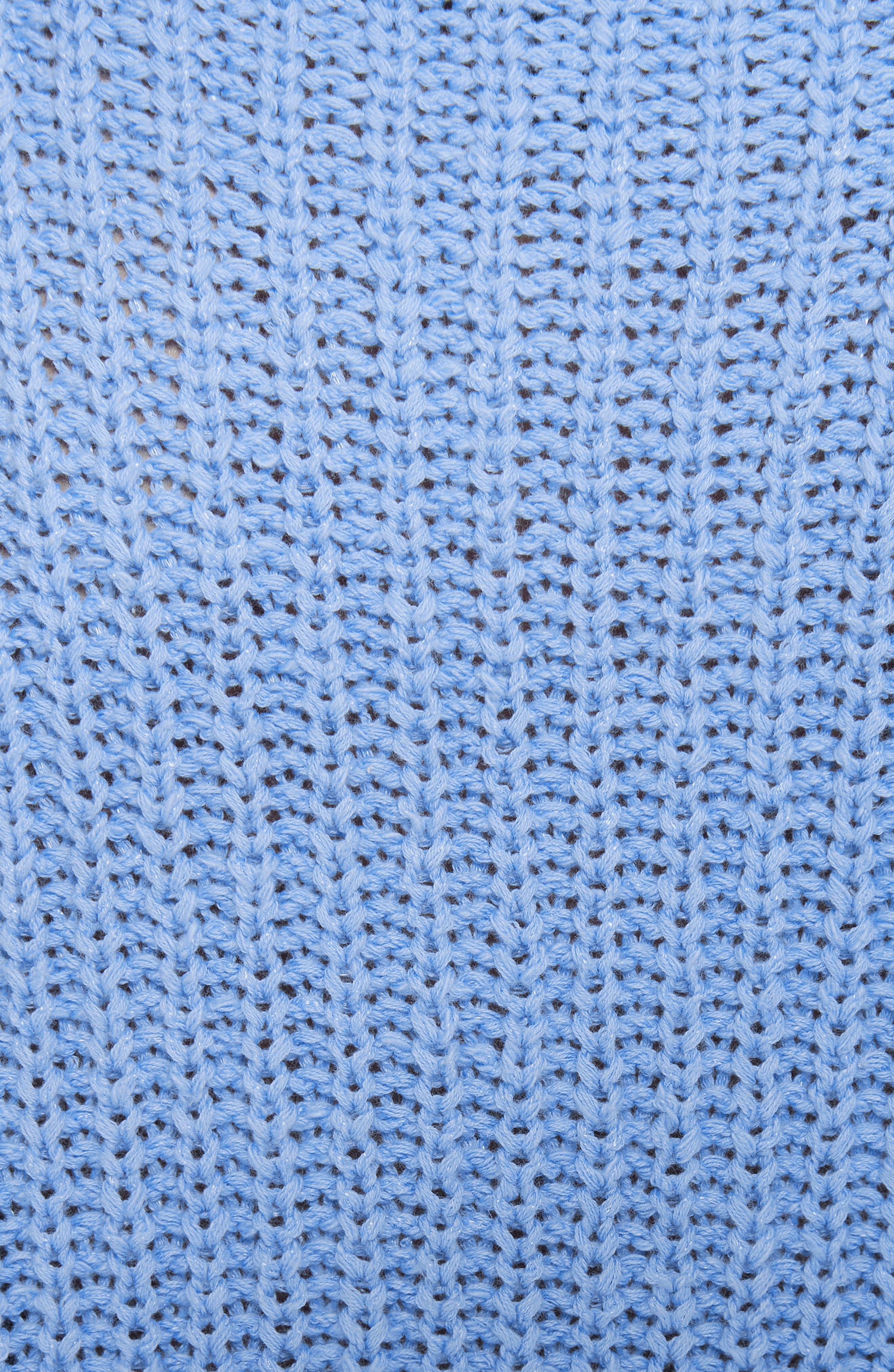 EILEEN FISHER,                             Crewneck Crop Shaker Sweater,                             Alternate thumbnail 5, color,                             BLUEBIRD
