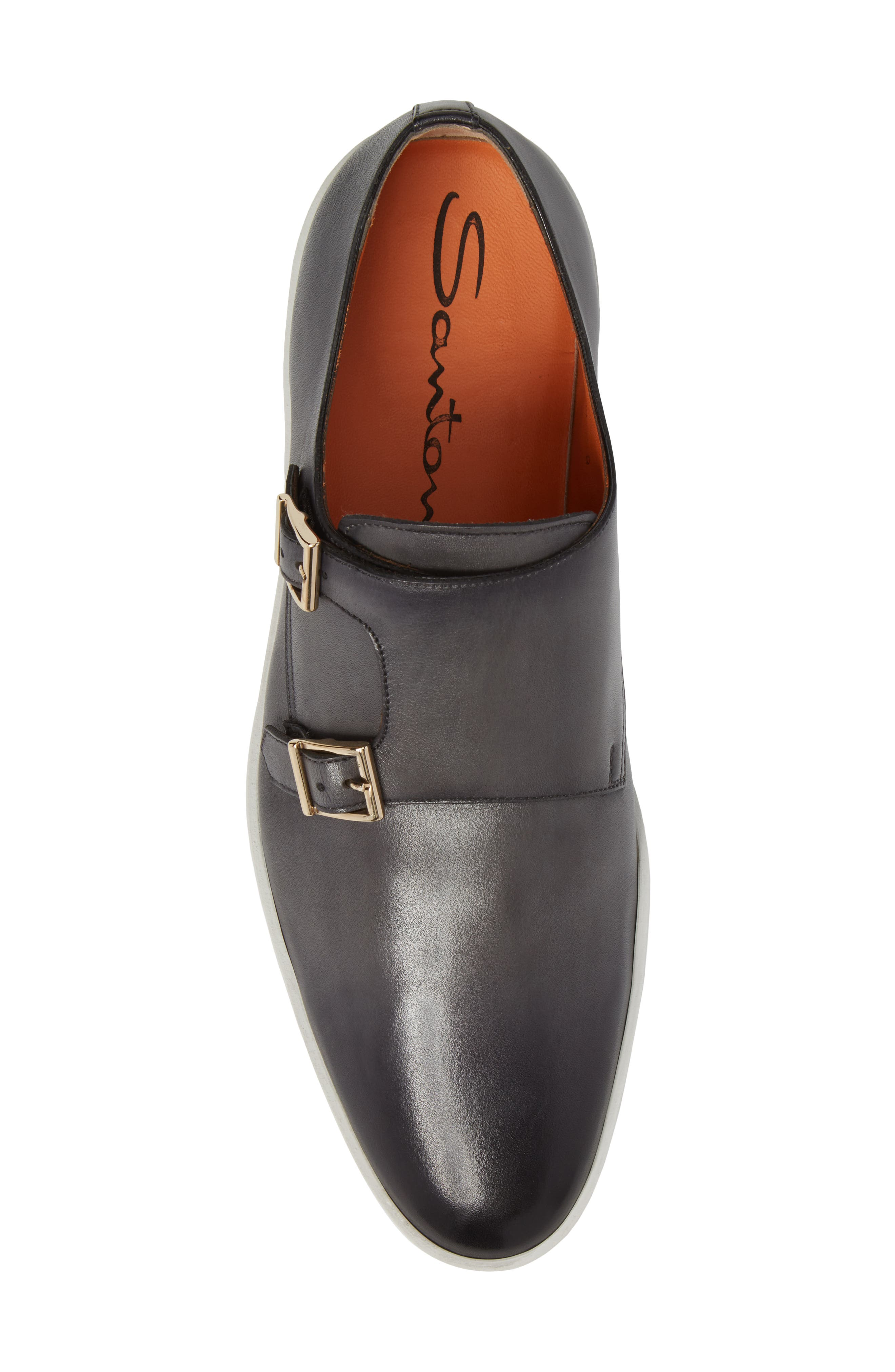 Freemont Double Monk Strap Shoe,                             Alternate thumbnail 5, color,                             GREY