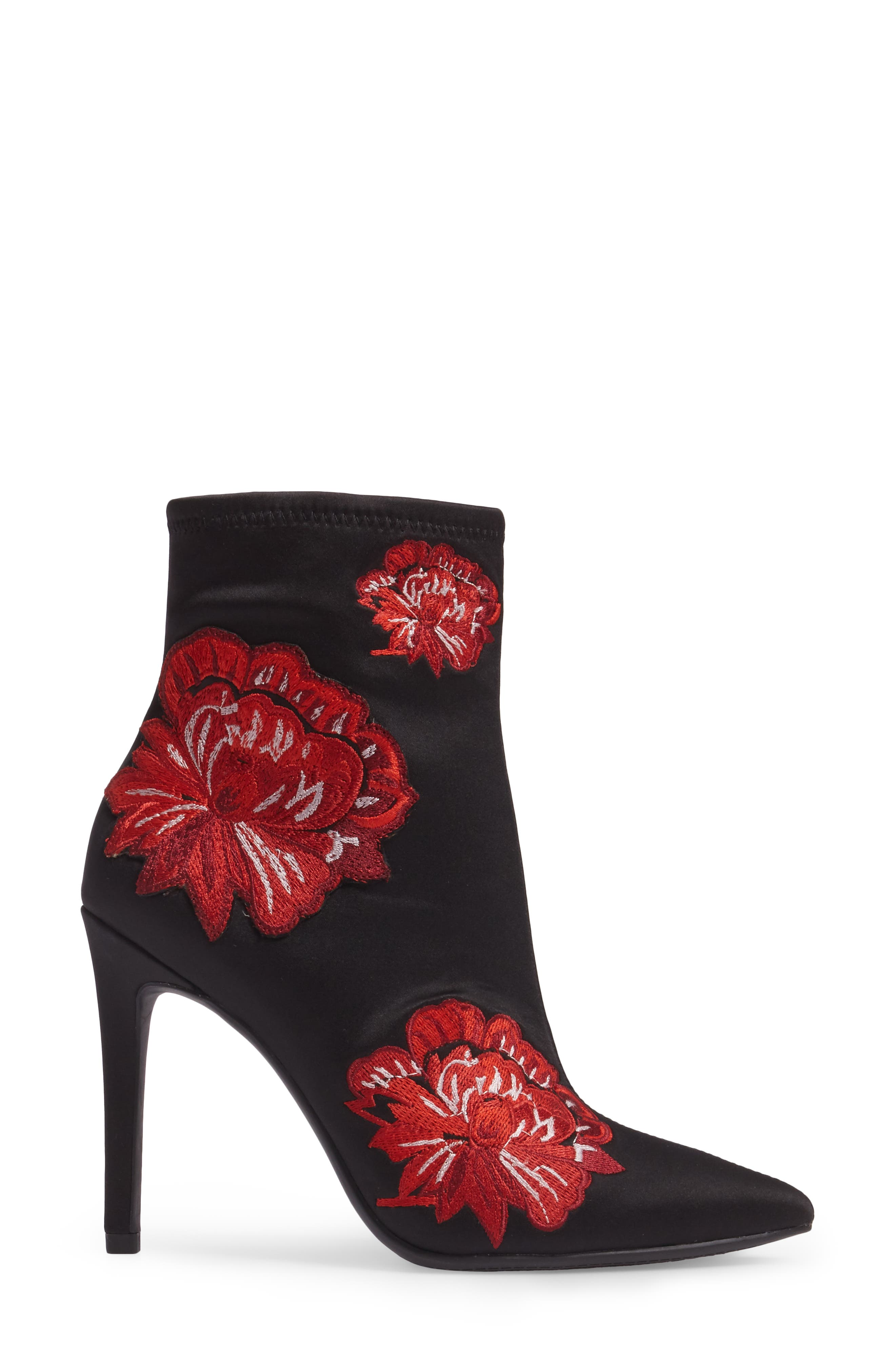 Pelanna Appliqué Stretch Bootie,                             Alternate thumbnail 3, color,                             001