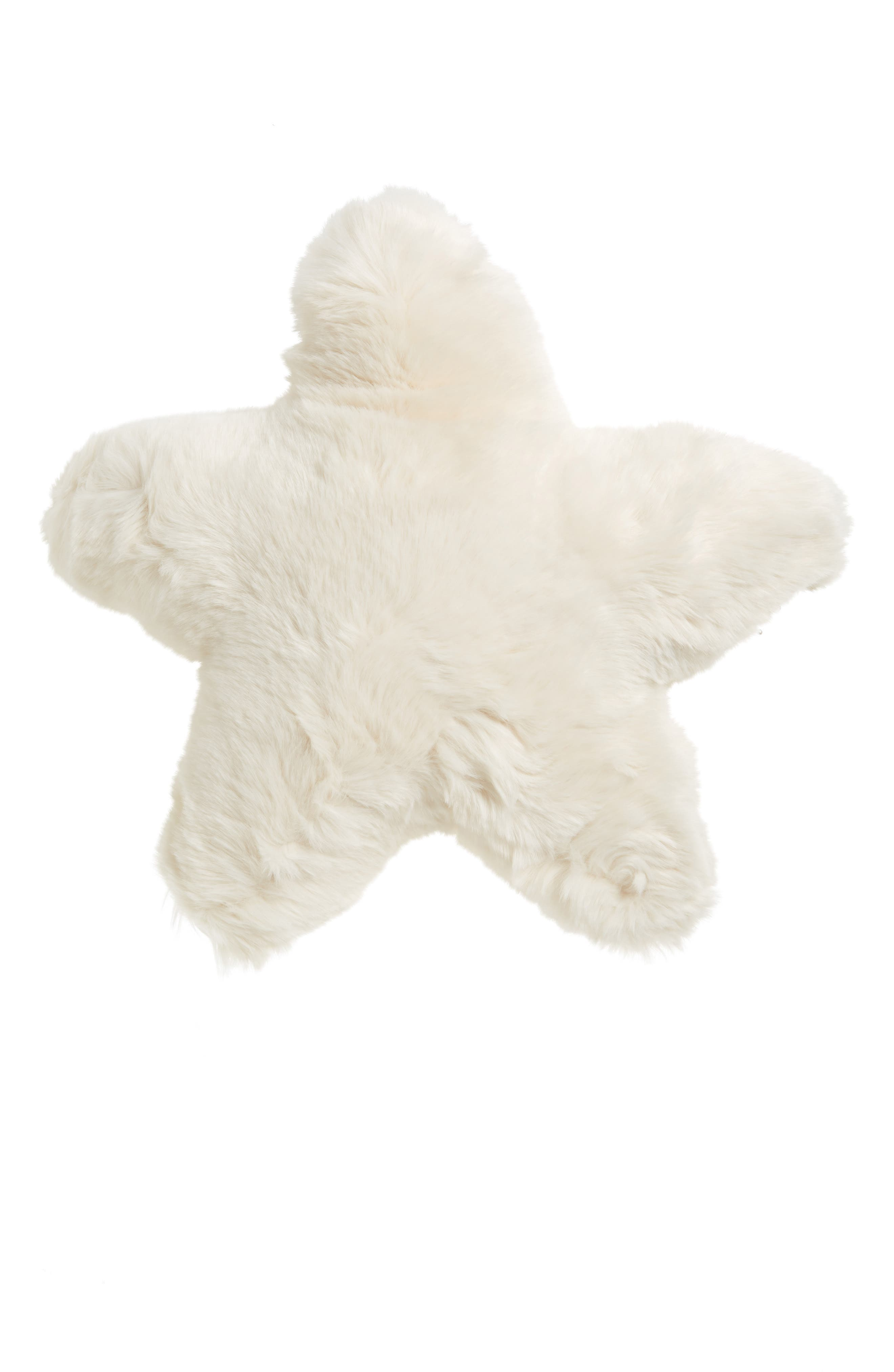 Cuddle Up Faux Fur Star Pillow,                         Main,                         color,