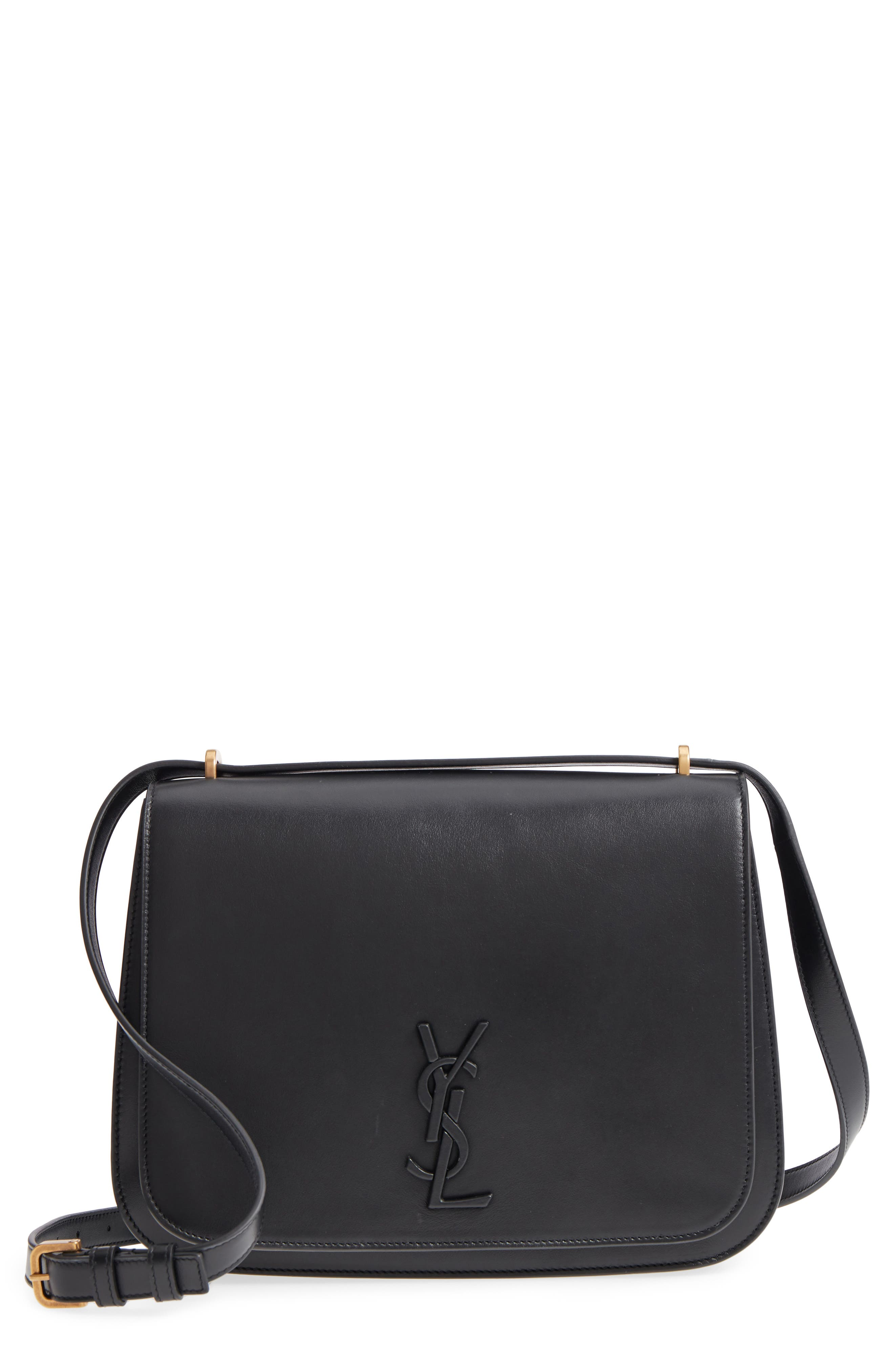 Medium Spontini Leather Shoulder Bag,                         Main,                         color, NERO