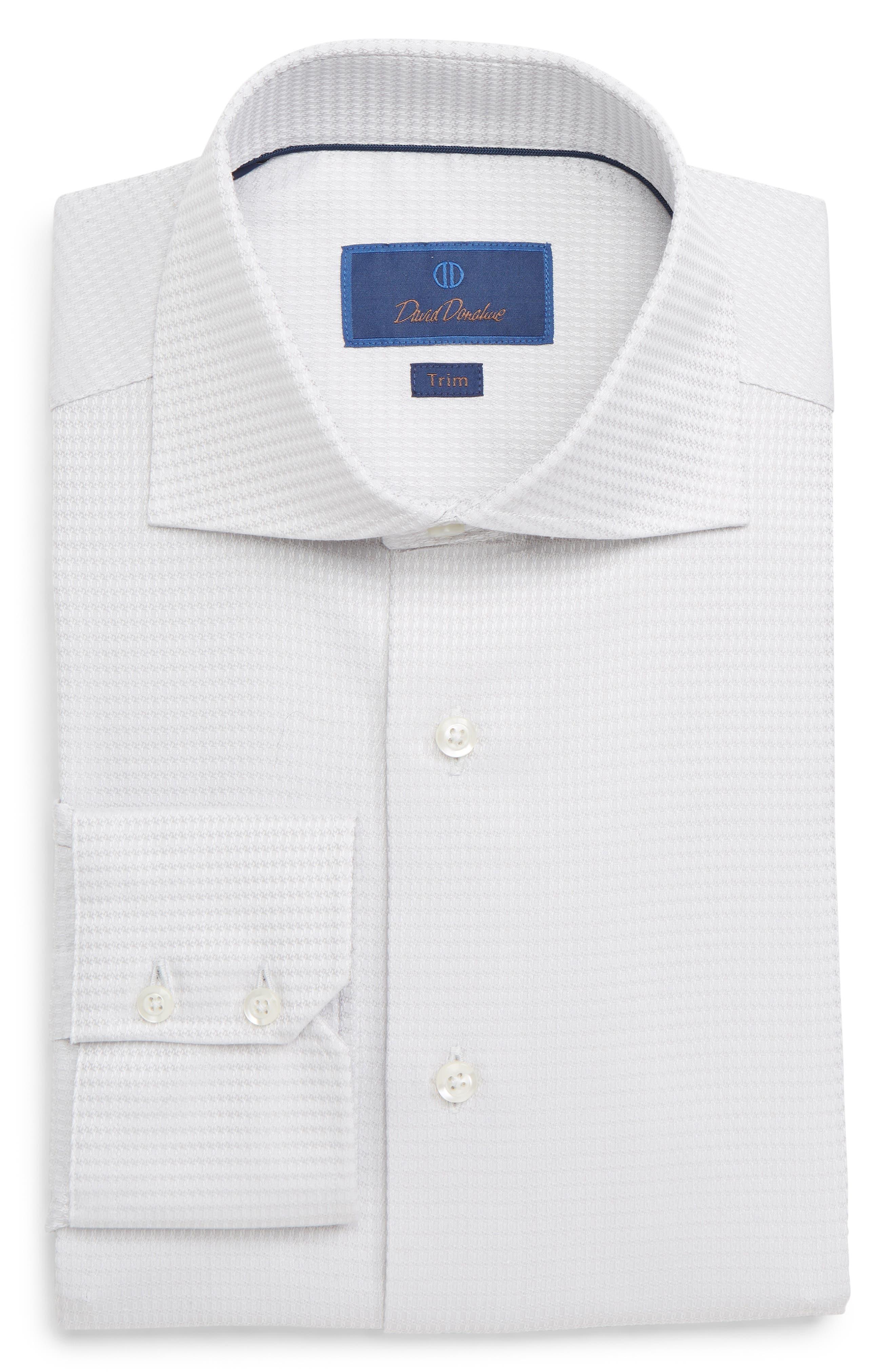 Trim Fit Solid Dress Shirt,                             Main thumbnail 1, color,                             GREY