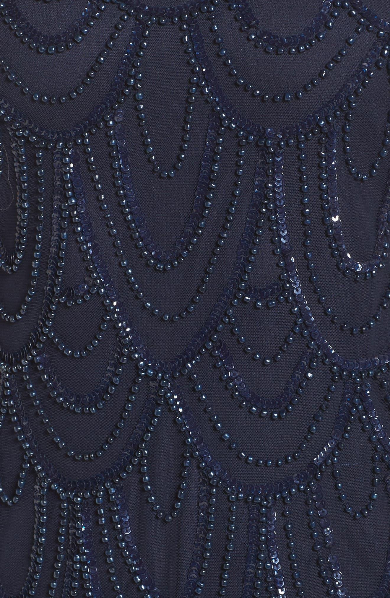 Embellished Mesh Sheath Dress,                             Alternate thumbnail 79, color,
