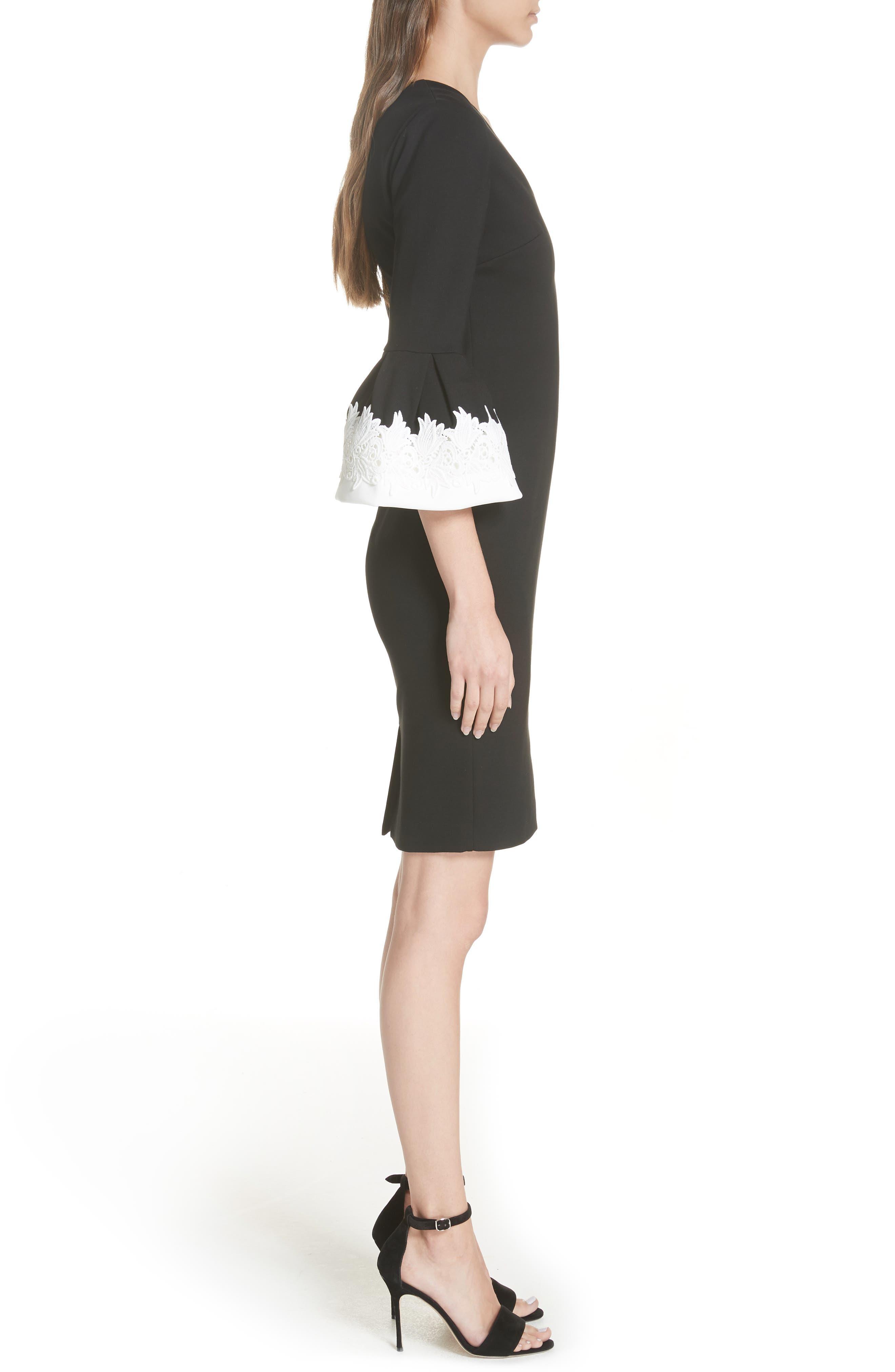Rastrel Sheath Dress,                             Alternate thumbnail 3, color,                             001