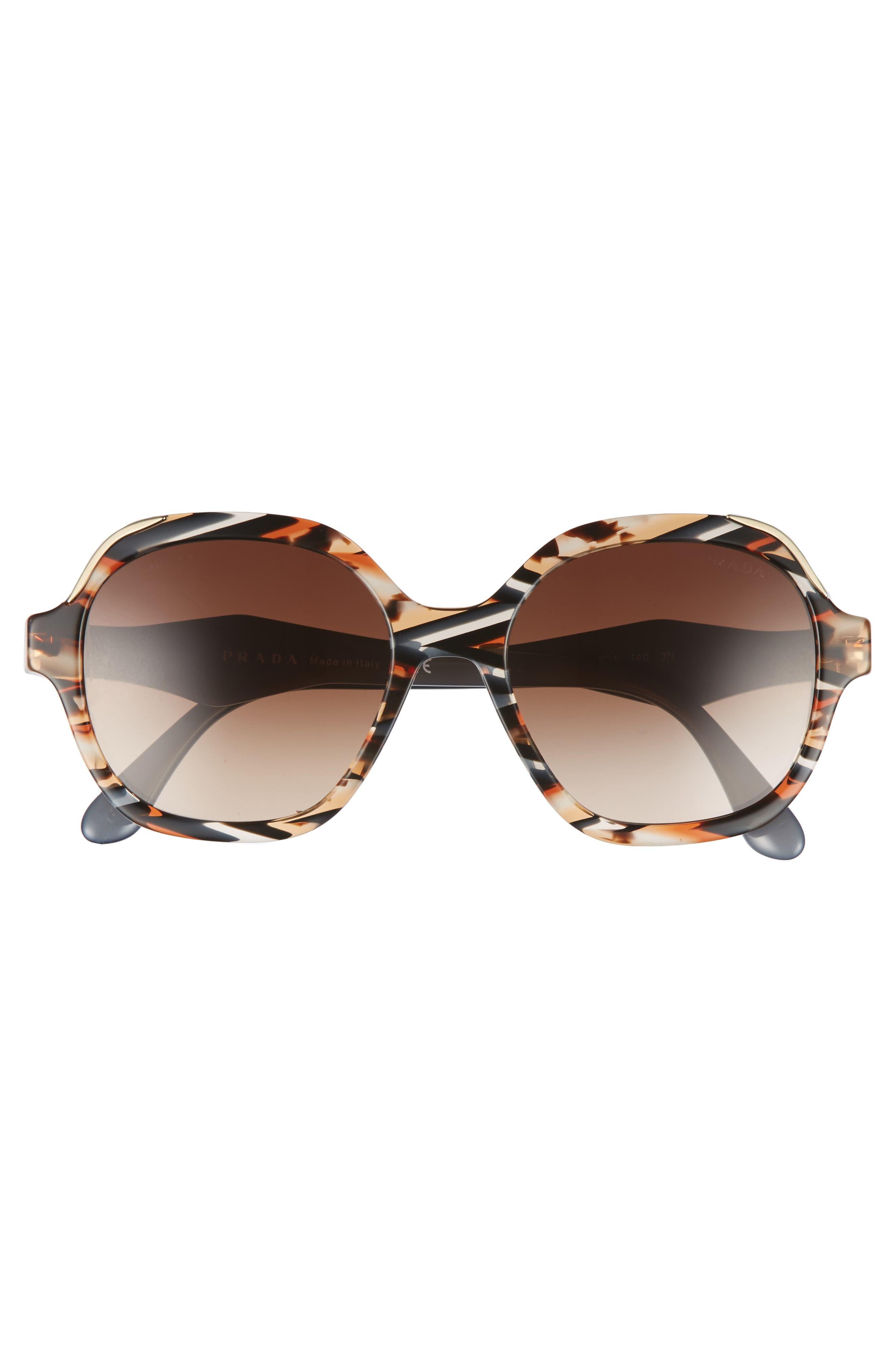 52mm Geometric Gradient Sunglasses,                             Alternate thumbnail 8, color,