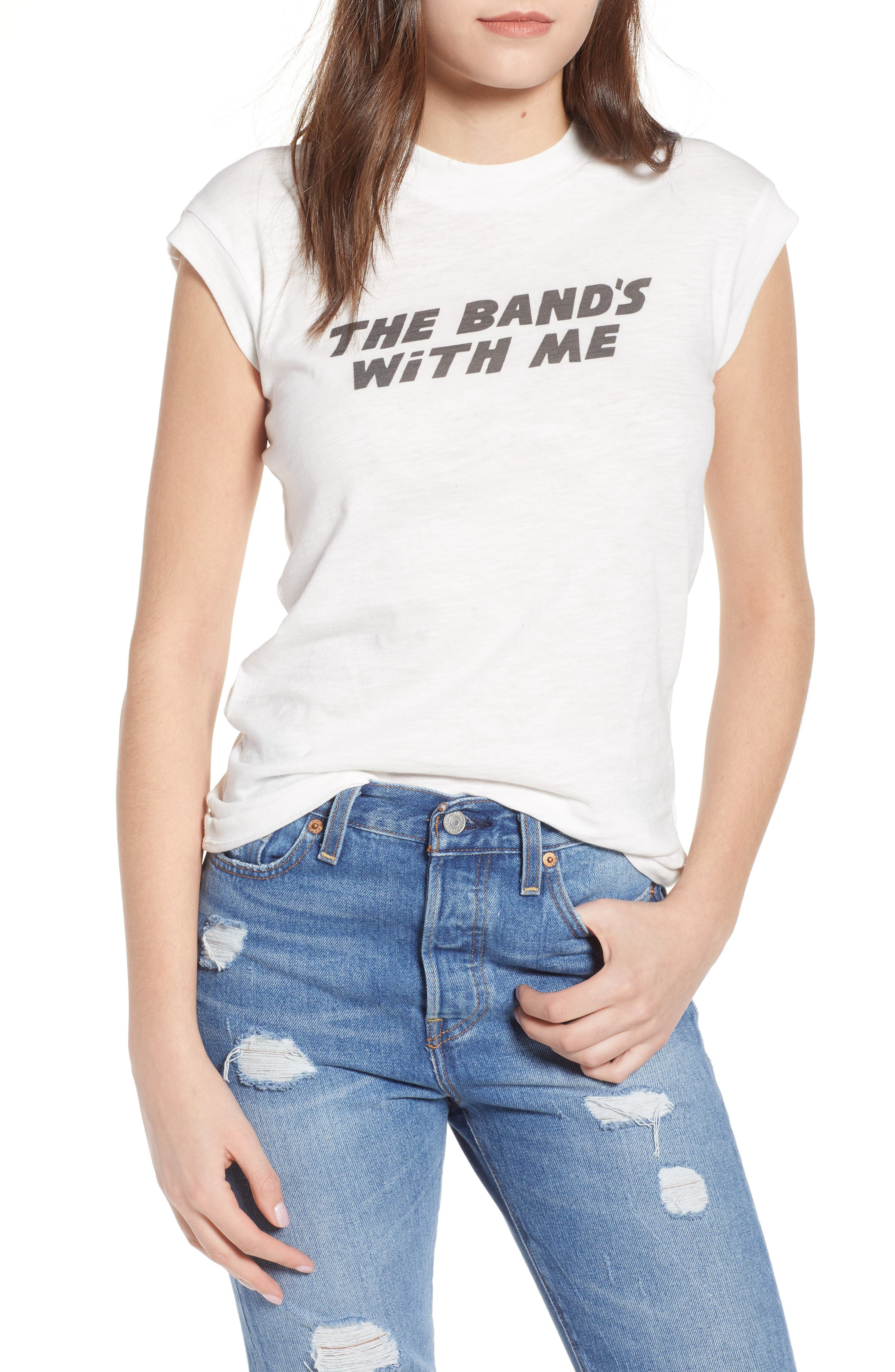 The Band's With Me Tee,                         Main,                         color, 100