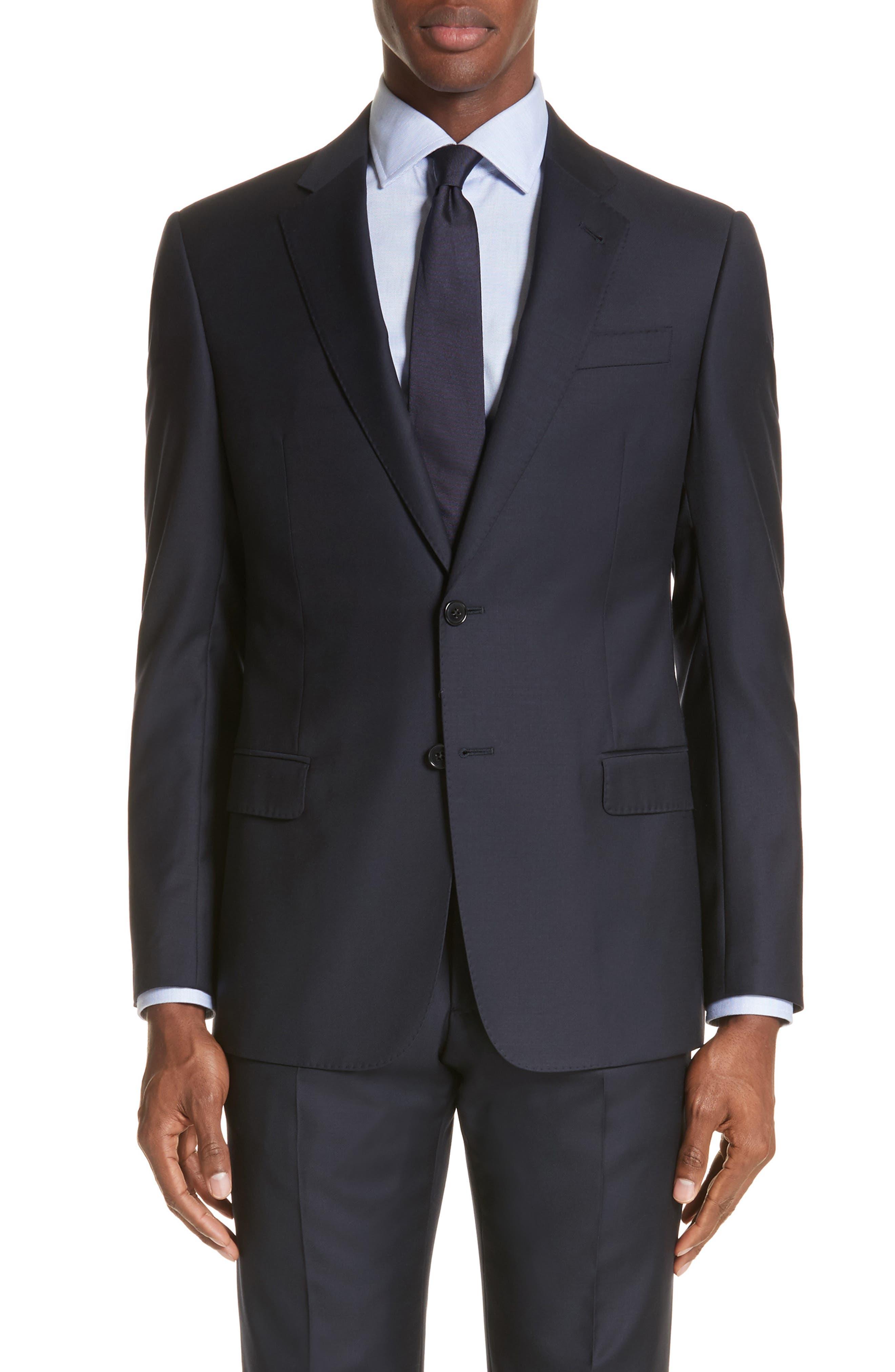 Trim Fit Solid Wool Suit,                             Alternate thumbnail 15, color,