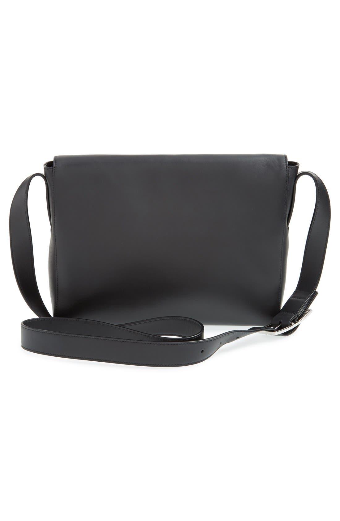 'Signature Collection - Medium' Leather Messenger Bag,                             Alternate thumbnail 2, color,                             001