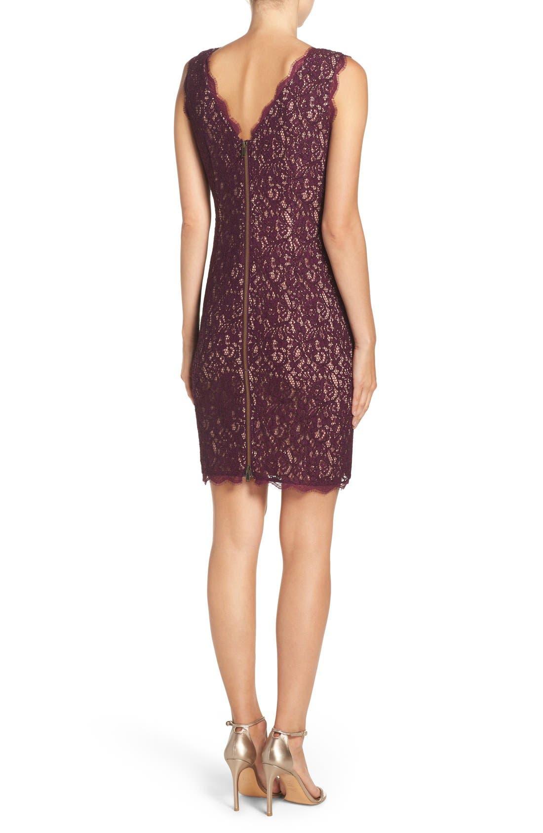 Boatneck Lace Sheath Dress,                             Alternate thumbnail 53, color,