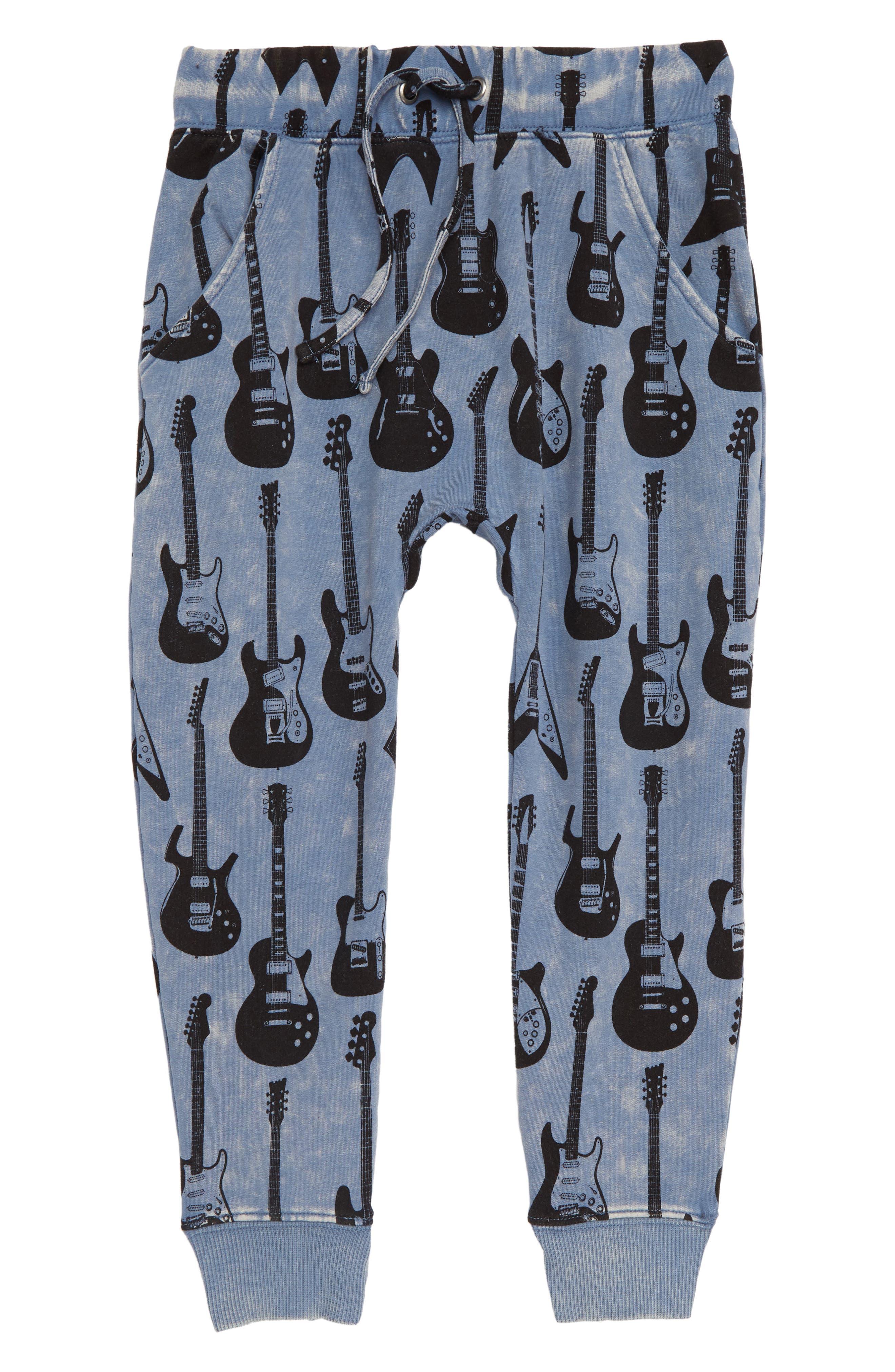 ROCK YOUR KID Guitar Hero Track Pants, Main, color, 400