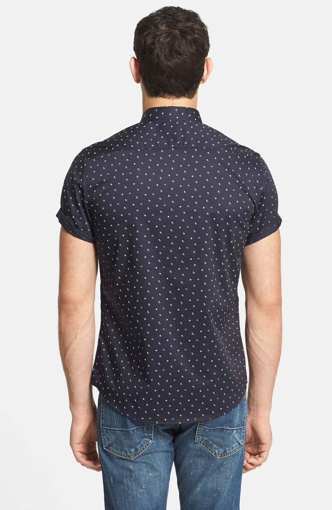 7 DIAMONDS,                             'Positive Mind' Short Sleeve Sport Shirt,                             Alternate thumbnail 2, color,                             410