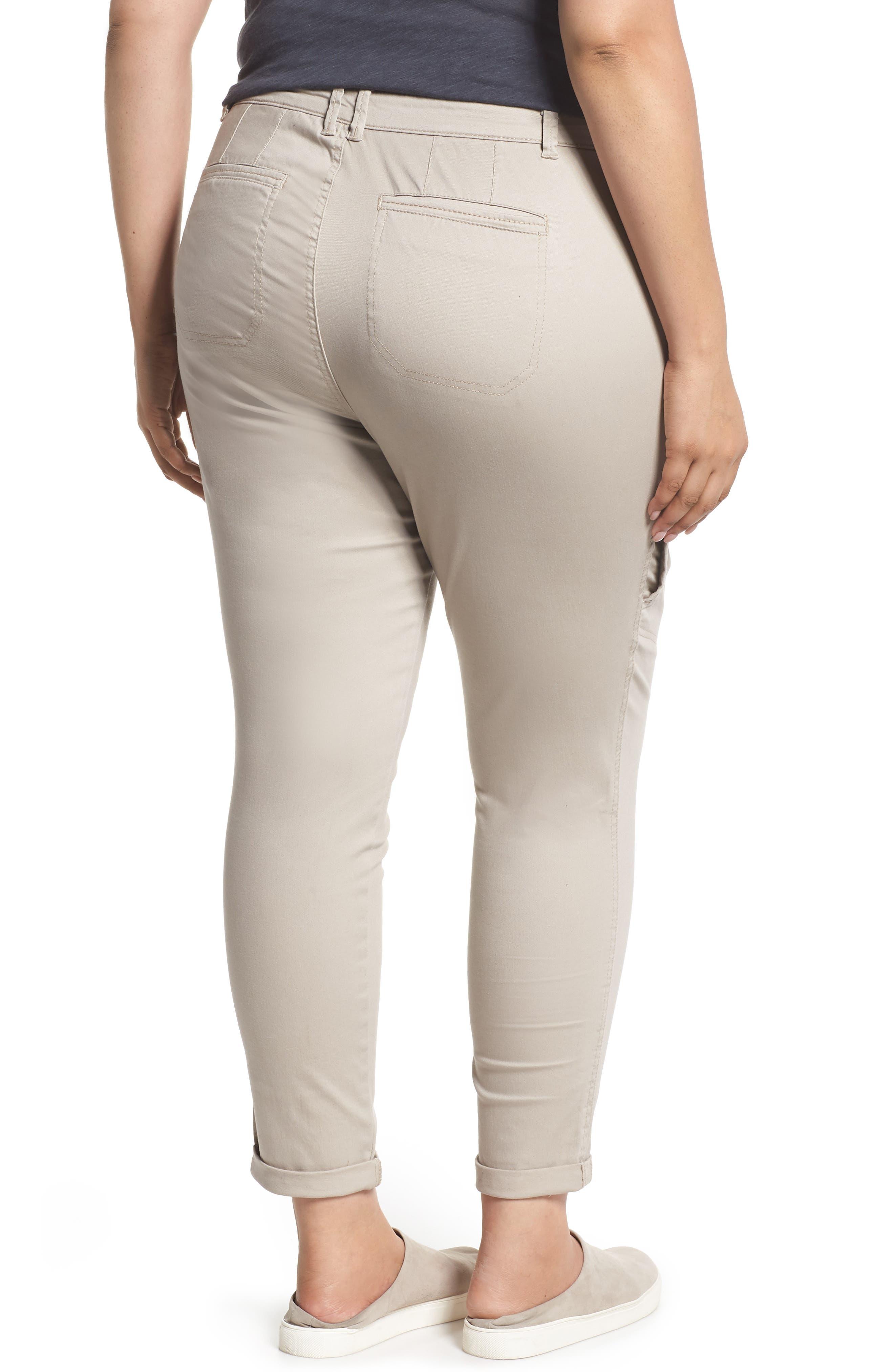Flex-ellent Stretch Cotton Cargo Pants,                             Alternate thumbnail 2, color,                             FLAX