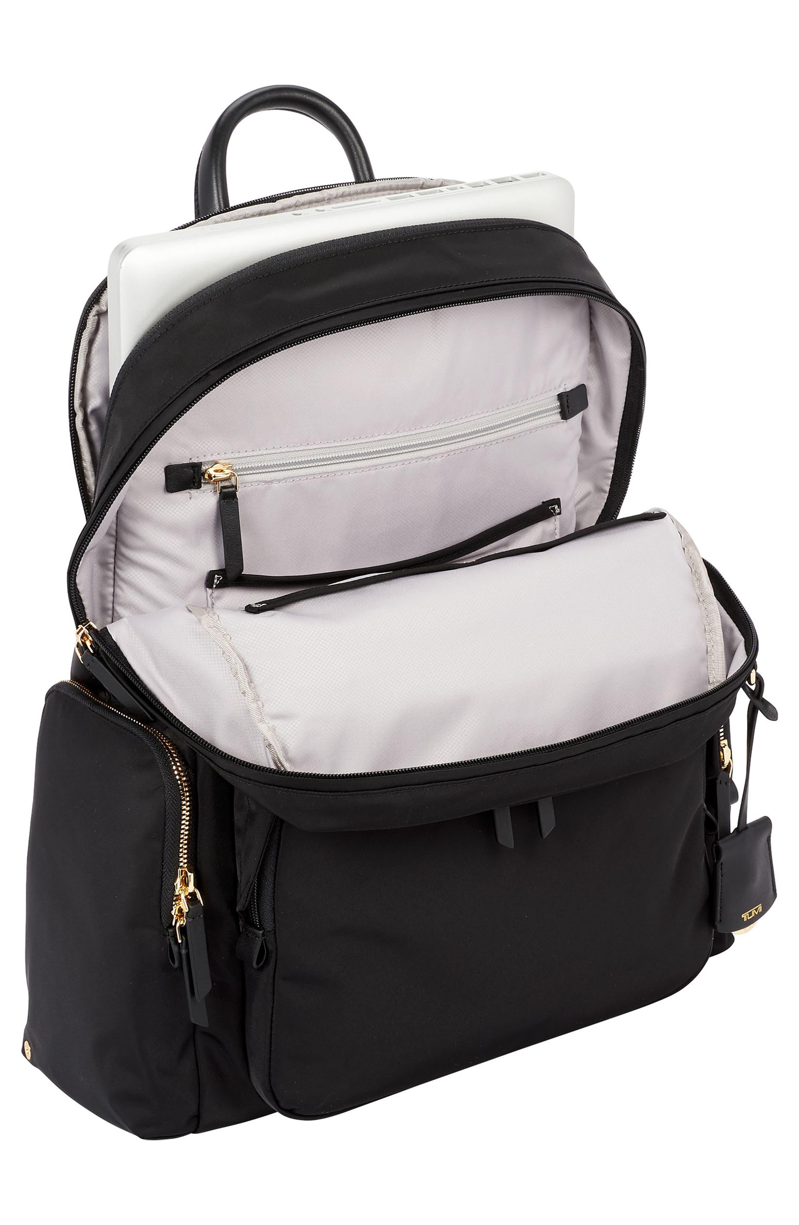 Voyager Carson Nylon Backpack,                             Alternate thumbnail 4, color,                             001