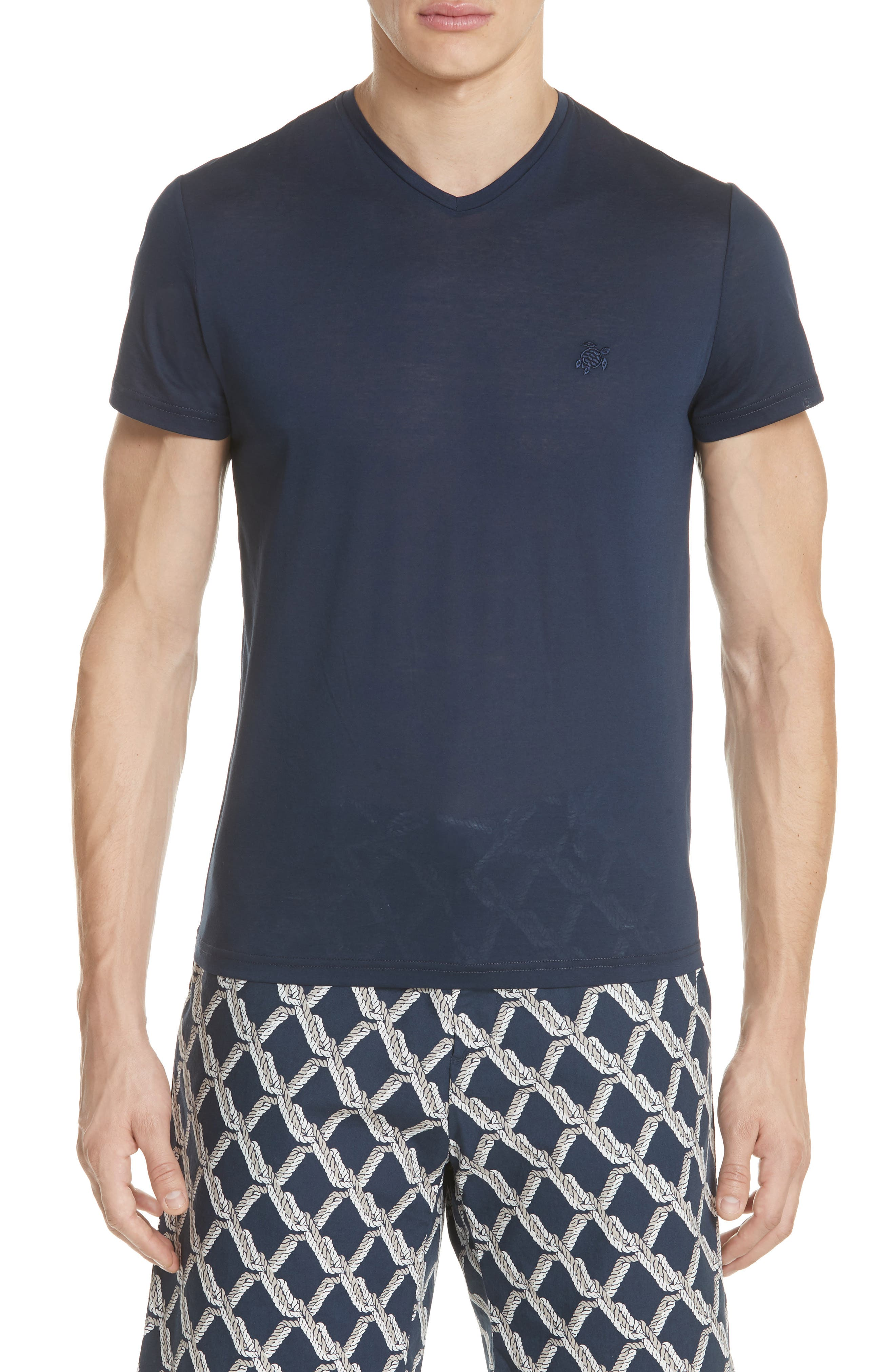 V-Neck T-Shirt,                             Main thumbnail 1, color,                             NAVY