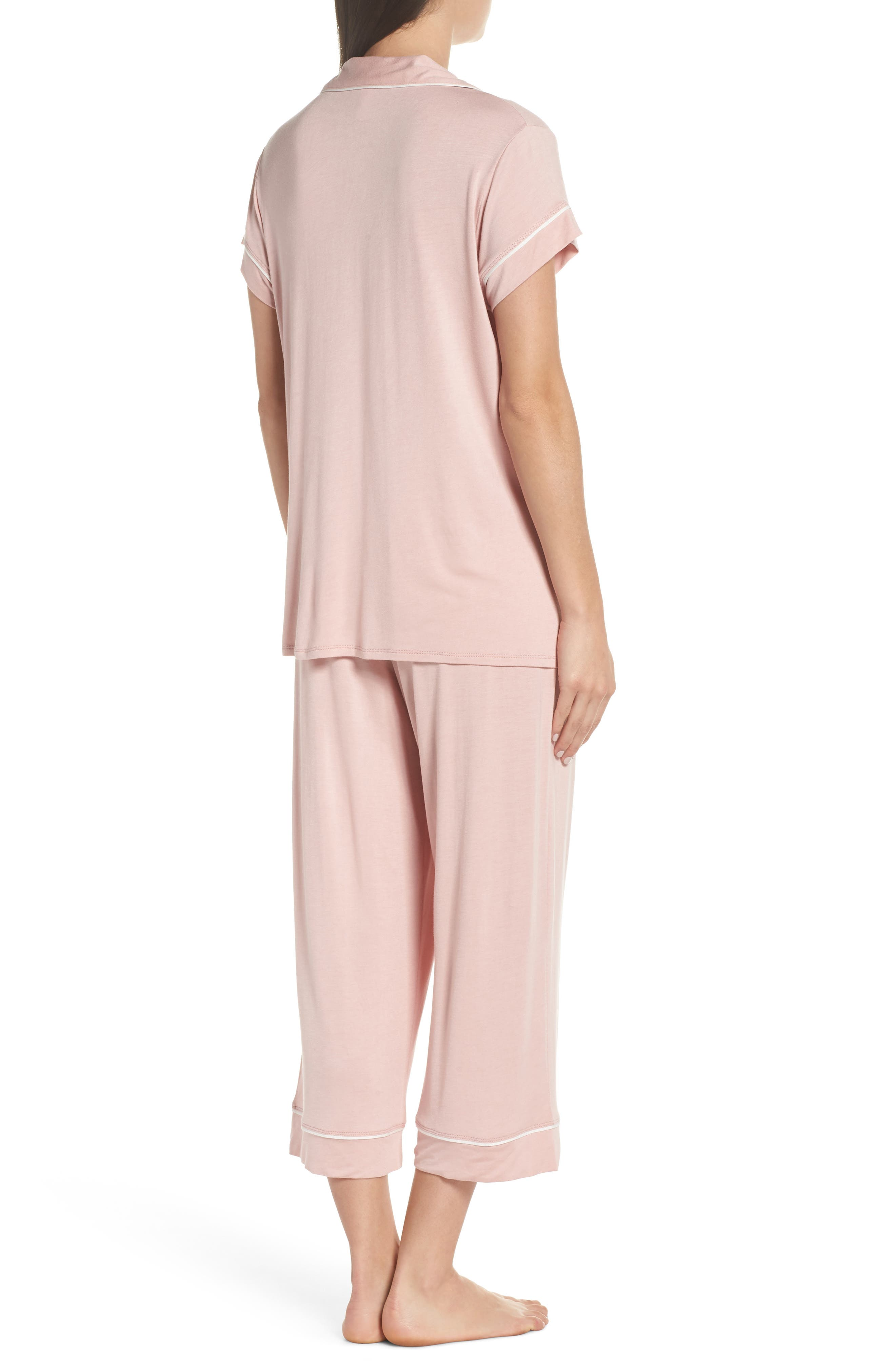 Gisele Crop Pajamas,                             Alternate thumbnail 6, color,