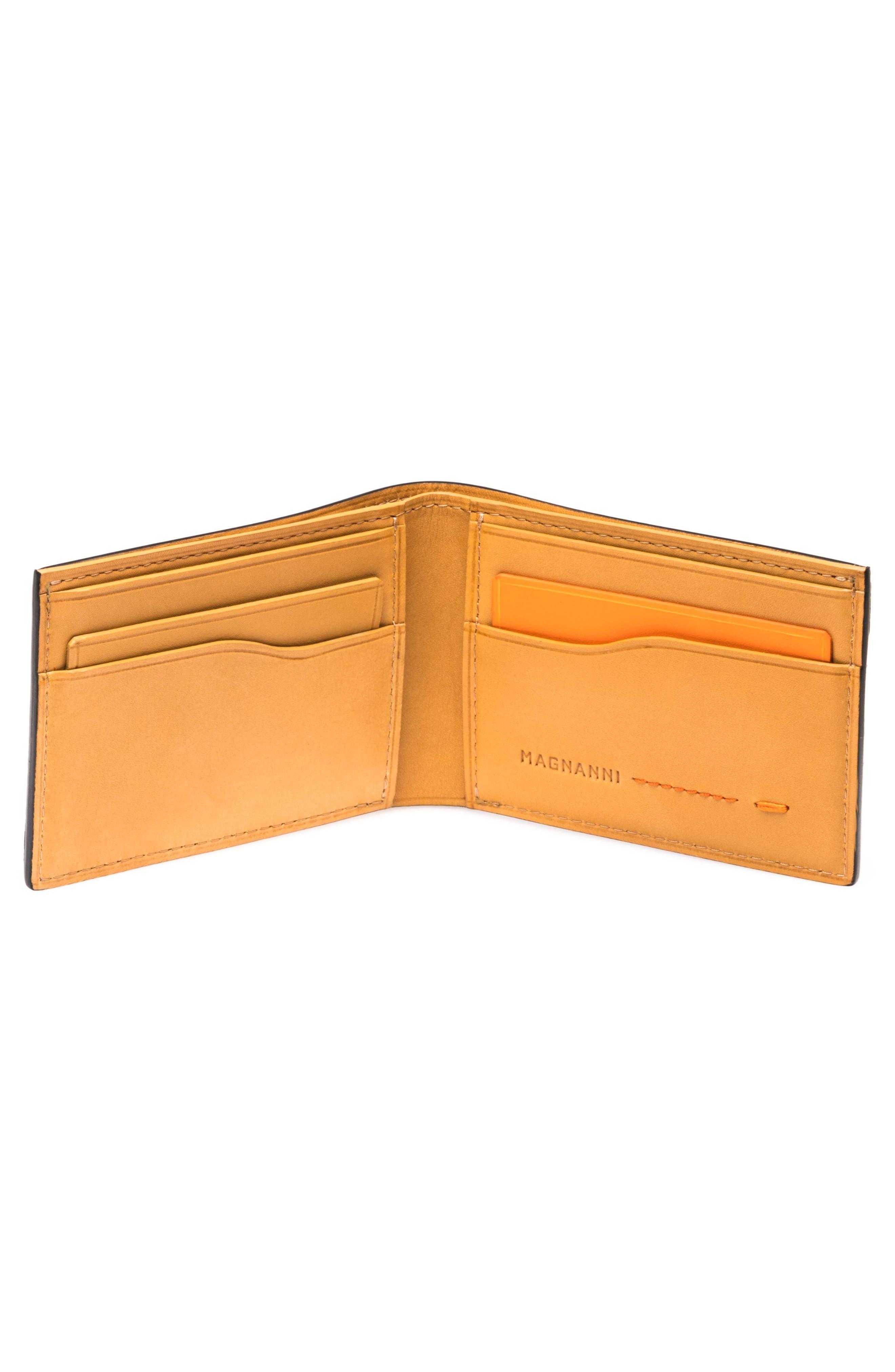 Slim Leather Bifold Wallet,                             Alternate thumbnail 2, color,                             001