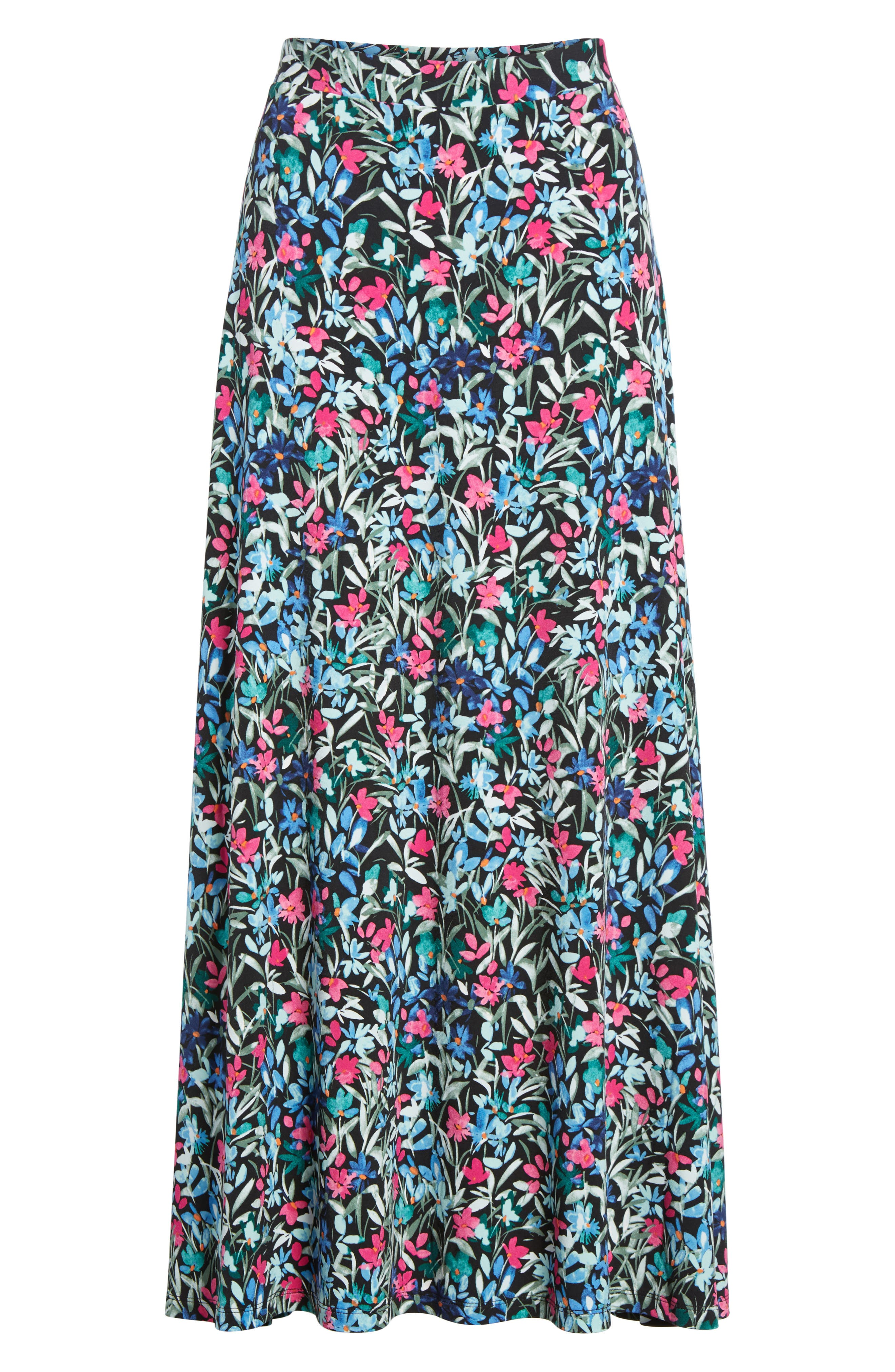 Radiant Flowers Maxi Skirt,                             Alternate thumbnail 6, color,