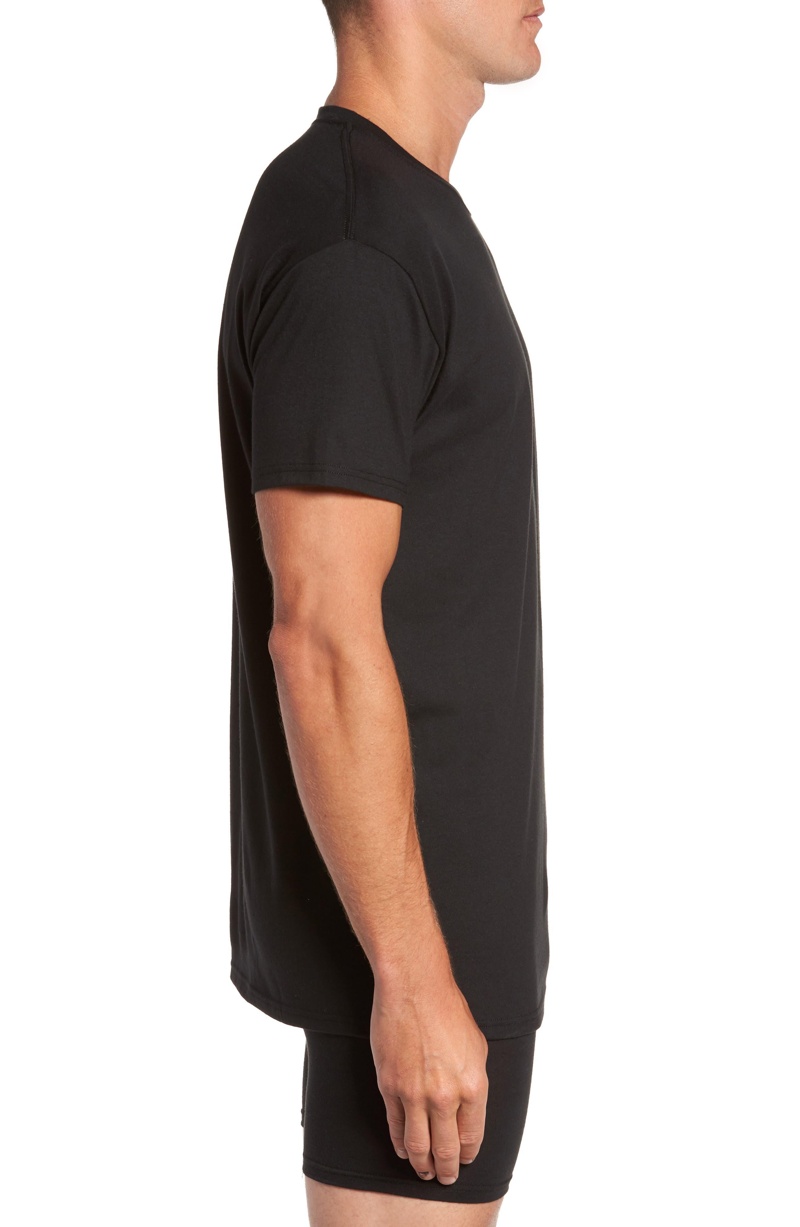 Luxury Essentials 3-Pack Crewneck T-Shirt,                             Alternate thumbnail 3, color,                             001