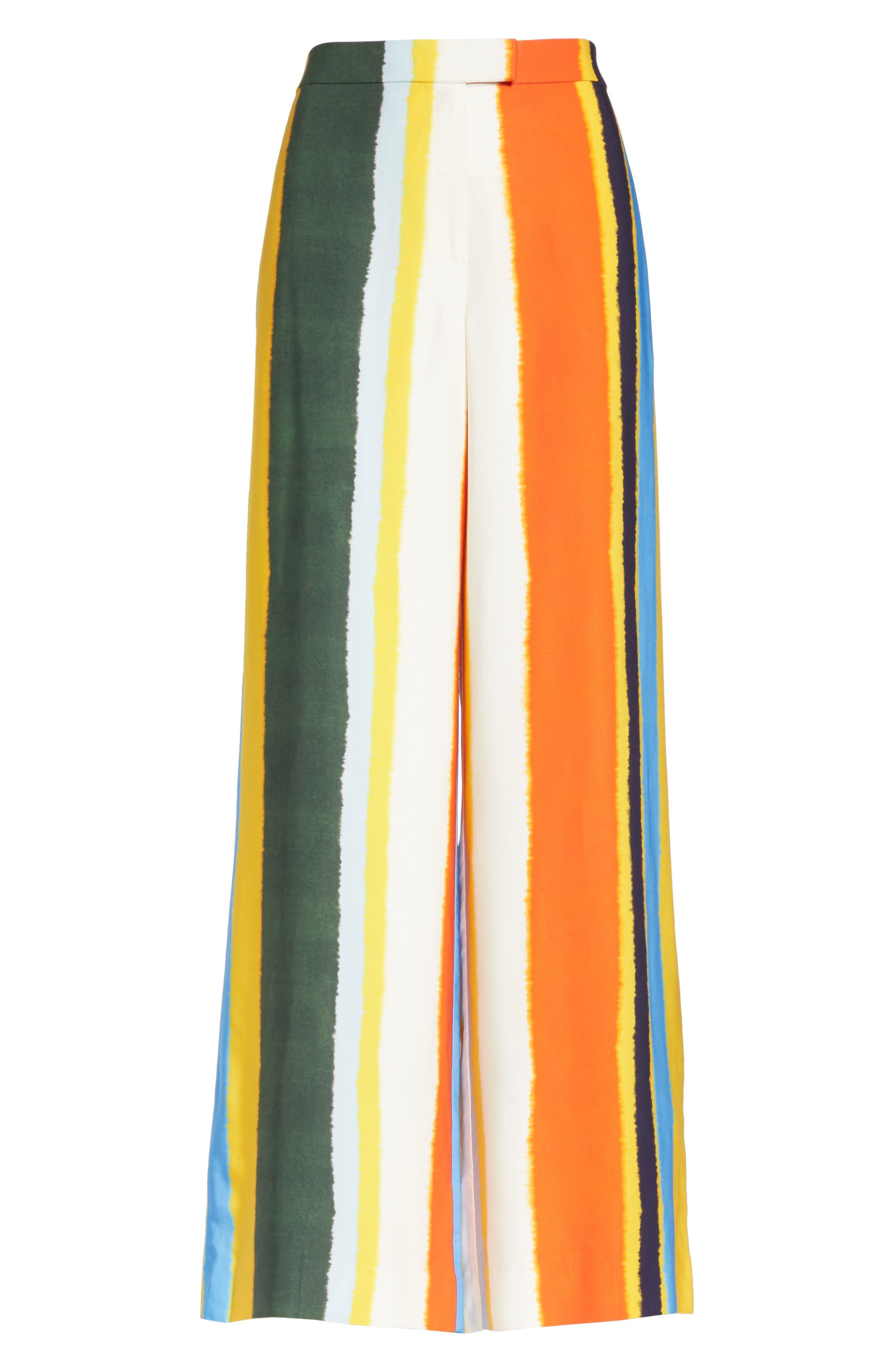Fiona Stripe Wide Leg Pants,                             Alternate thumbnail 6, color,                             108