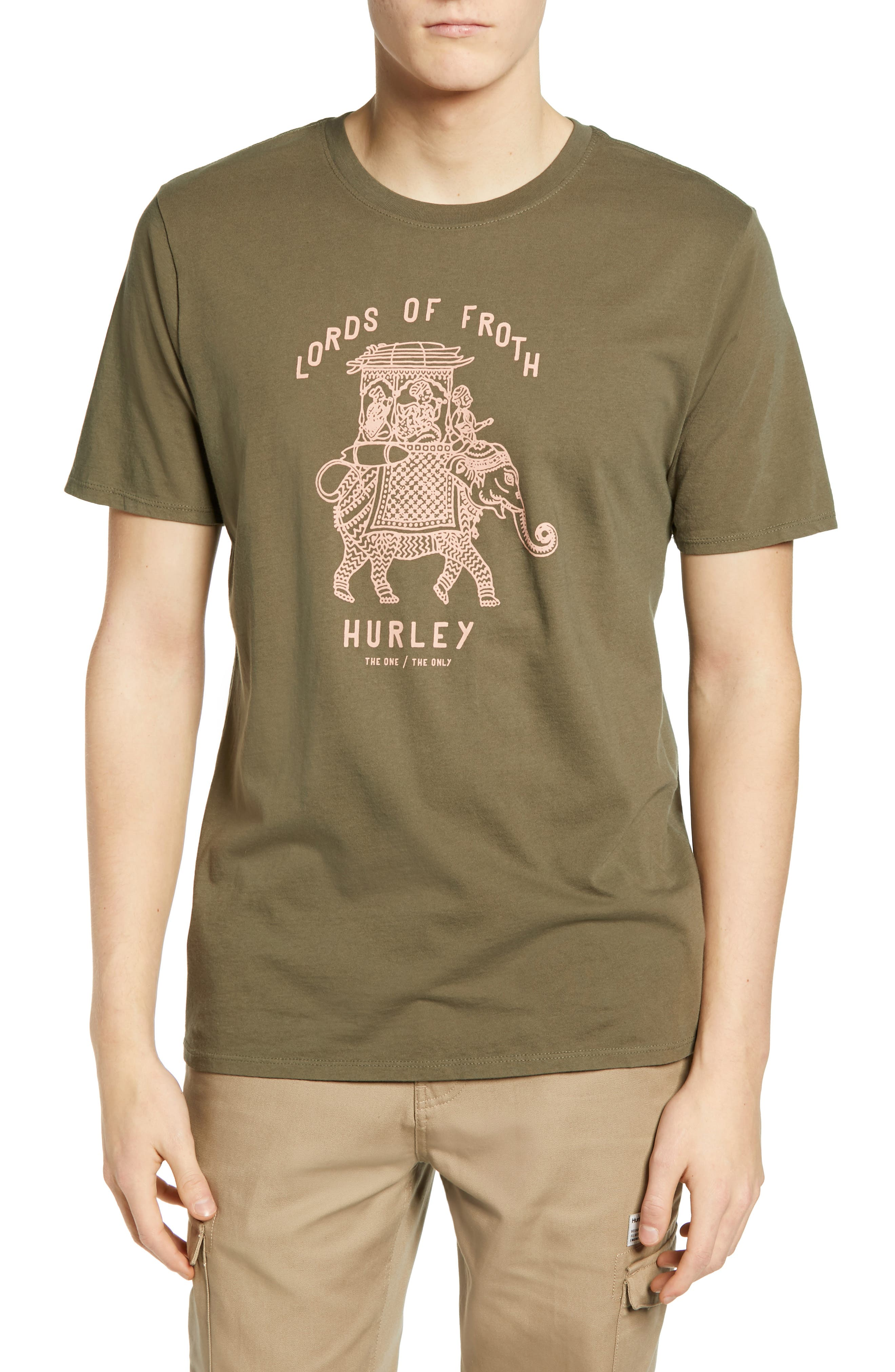 Hurley Lords Of Froth Graphic T-Shirt, Green