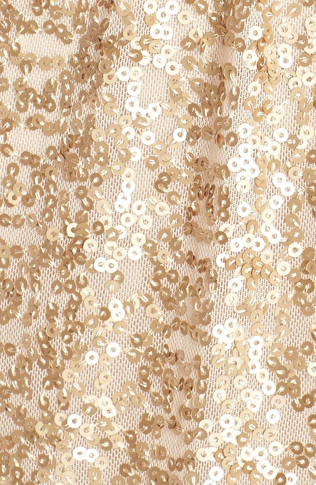 'London' Sequin Tulle Strapless Column Gown,                             Alternate thumbnail 5, color,                             710