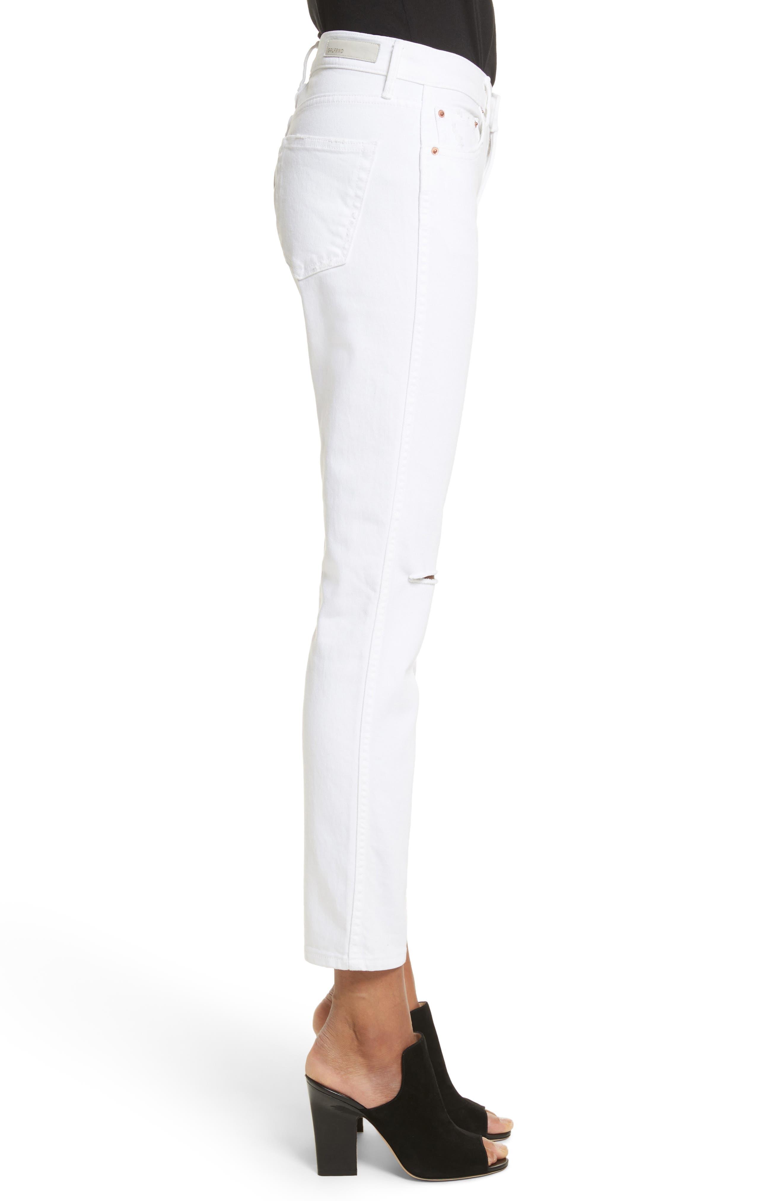 Naomi High Waist Skinny Jeans,                             Alternate thumbnail 3, color,                             100