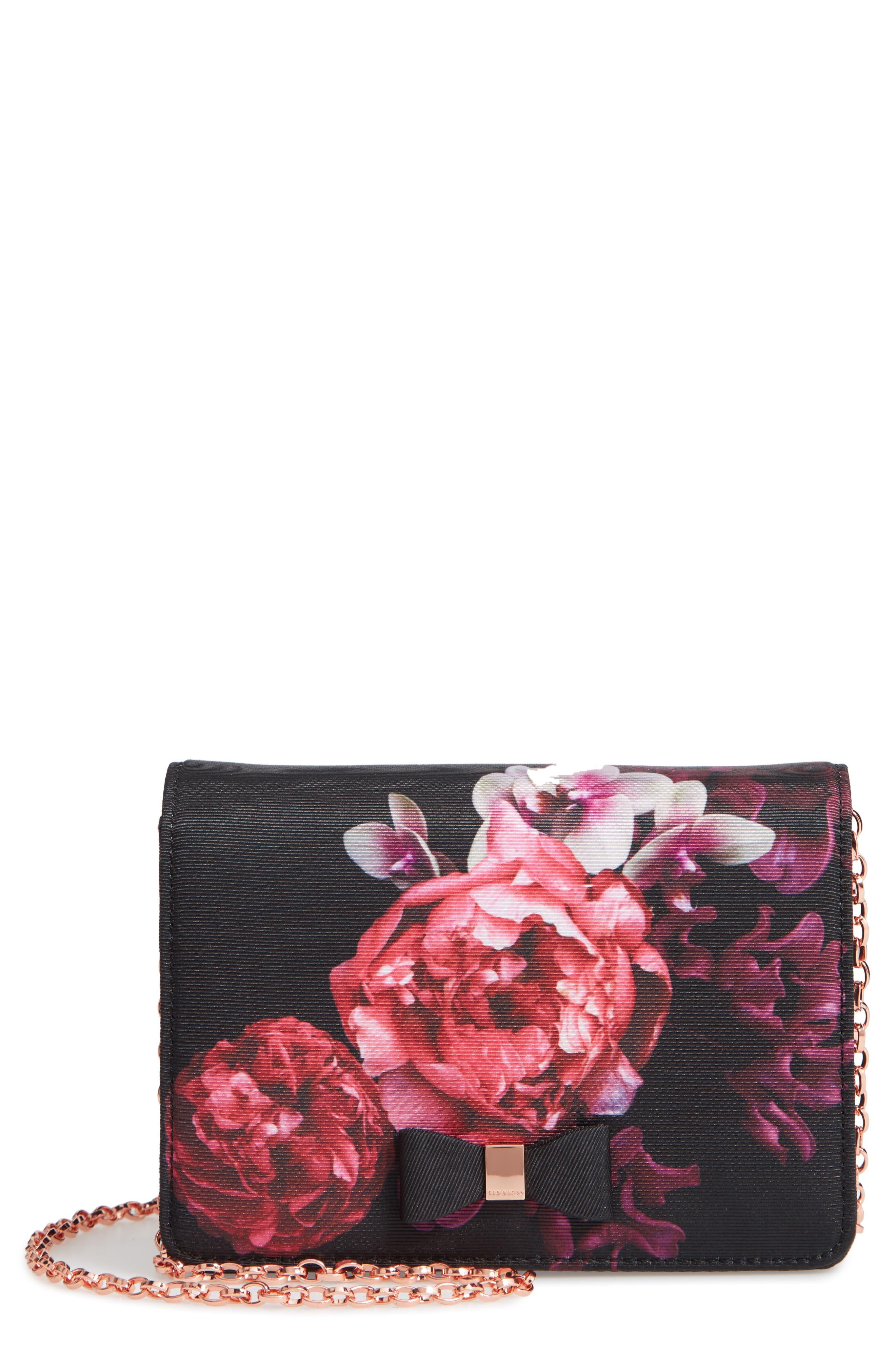 Splendour Mini Bow Evening Bag,                         Main,                         color, 001
