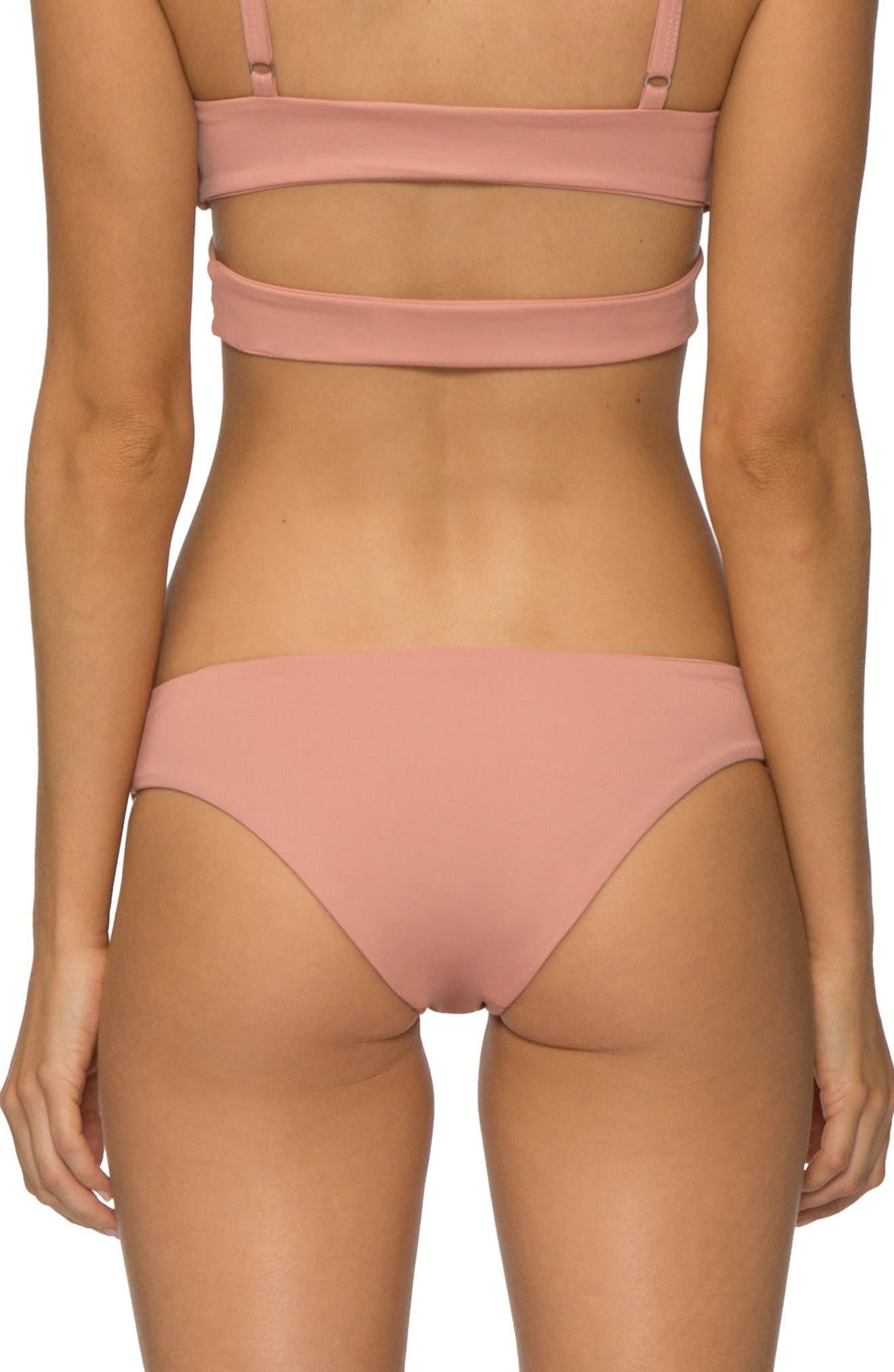 'Ali' Moderate Coverage Bikini Bottoms,                             Alternate thumbnail 2, color,                             ROSE DAWN