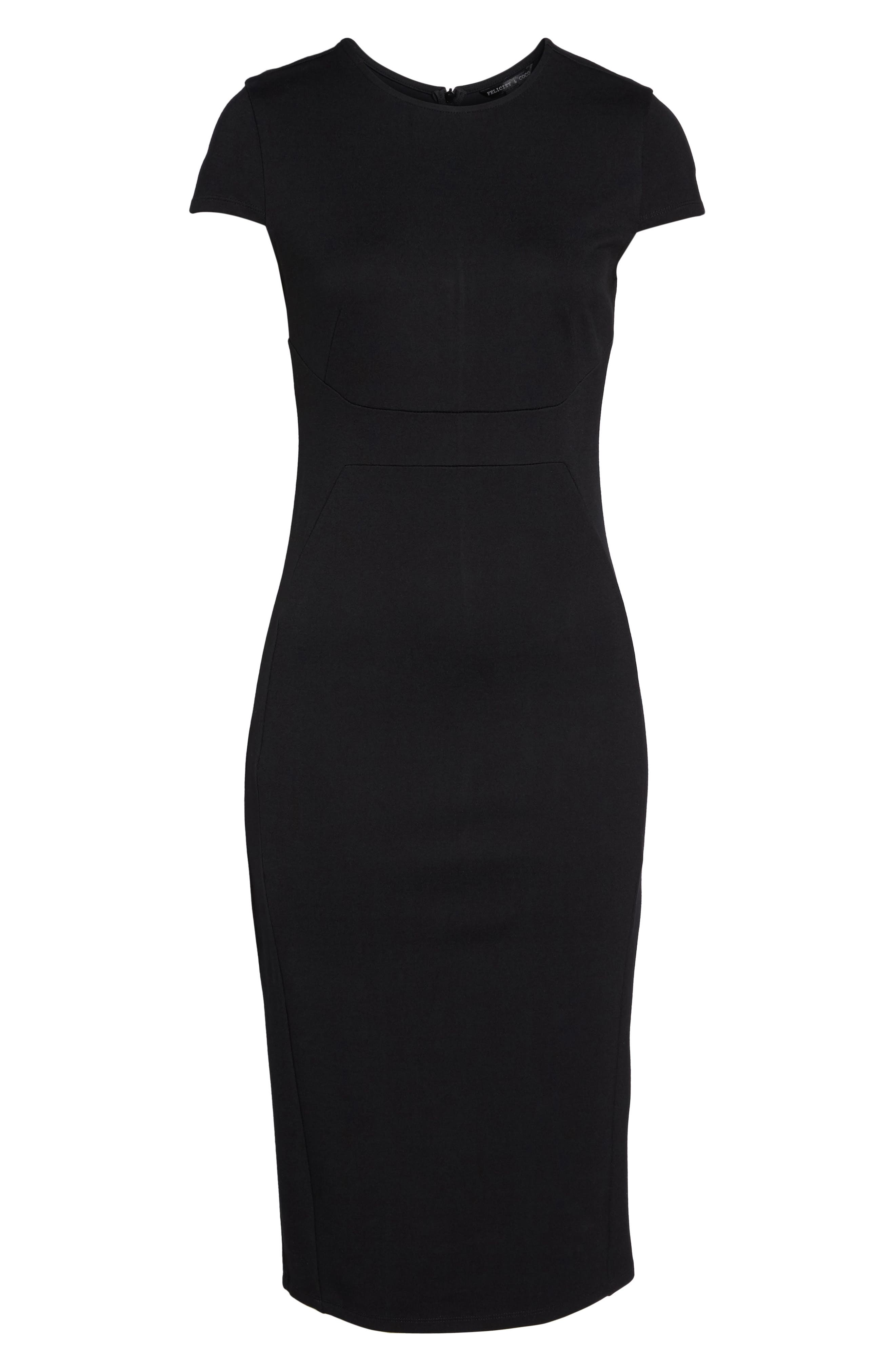 Austin Sheath Dress,                             Alternate thumbnail 6, color,                             001