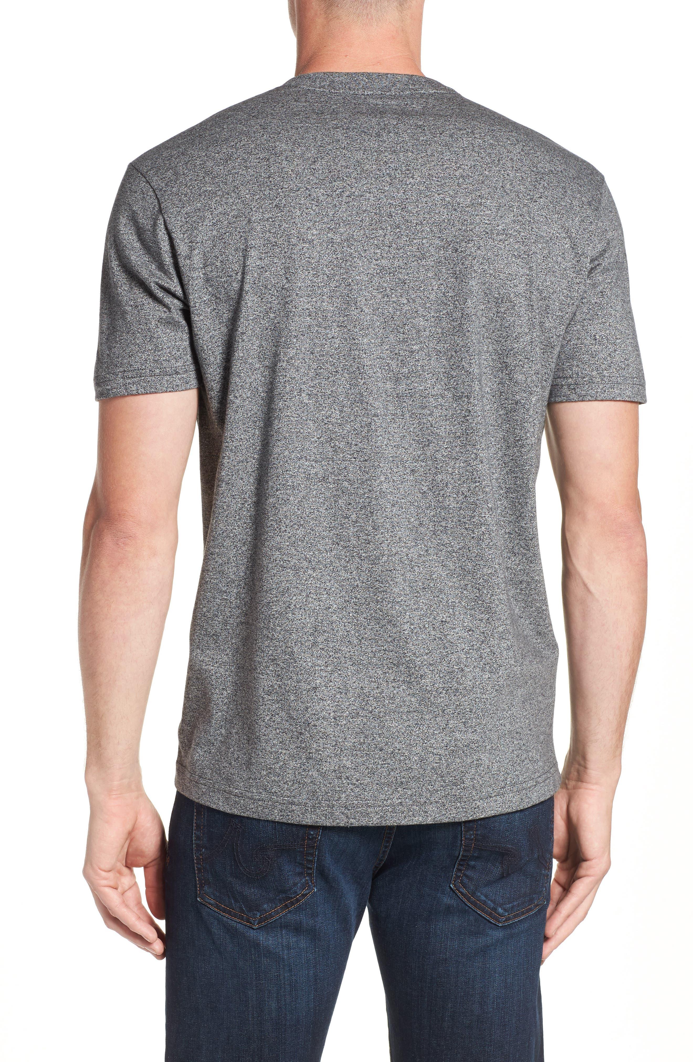 V-Neck T-Shirt,                             Alternate thumbnail 2, color,                             GREY SALT PEPPER