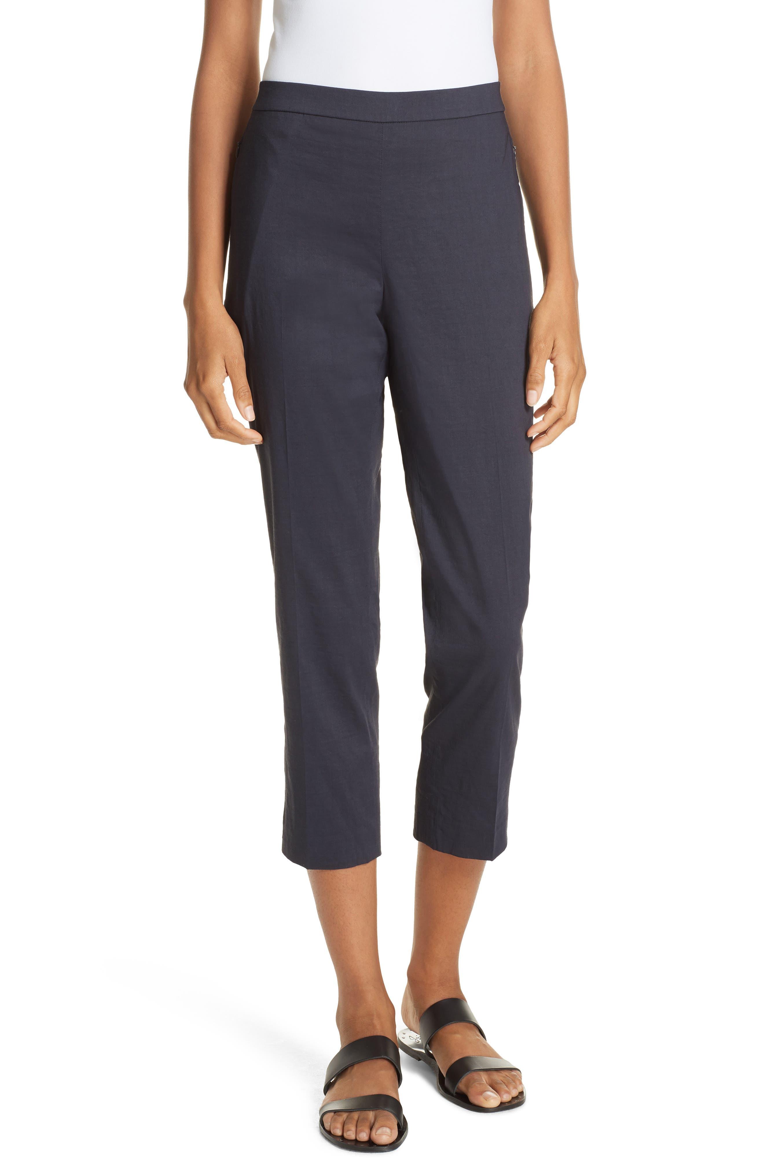 Pull-On Linen Blend Pants,                             Main thumbnail 3, color,