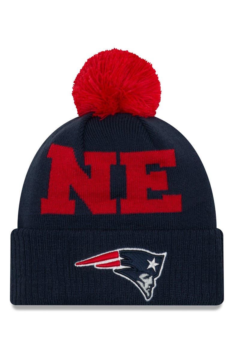 New Era Nfl Pom Beanie - Blue In New England Patriots  9e8c9b0b842