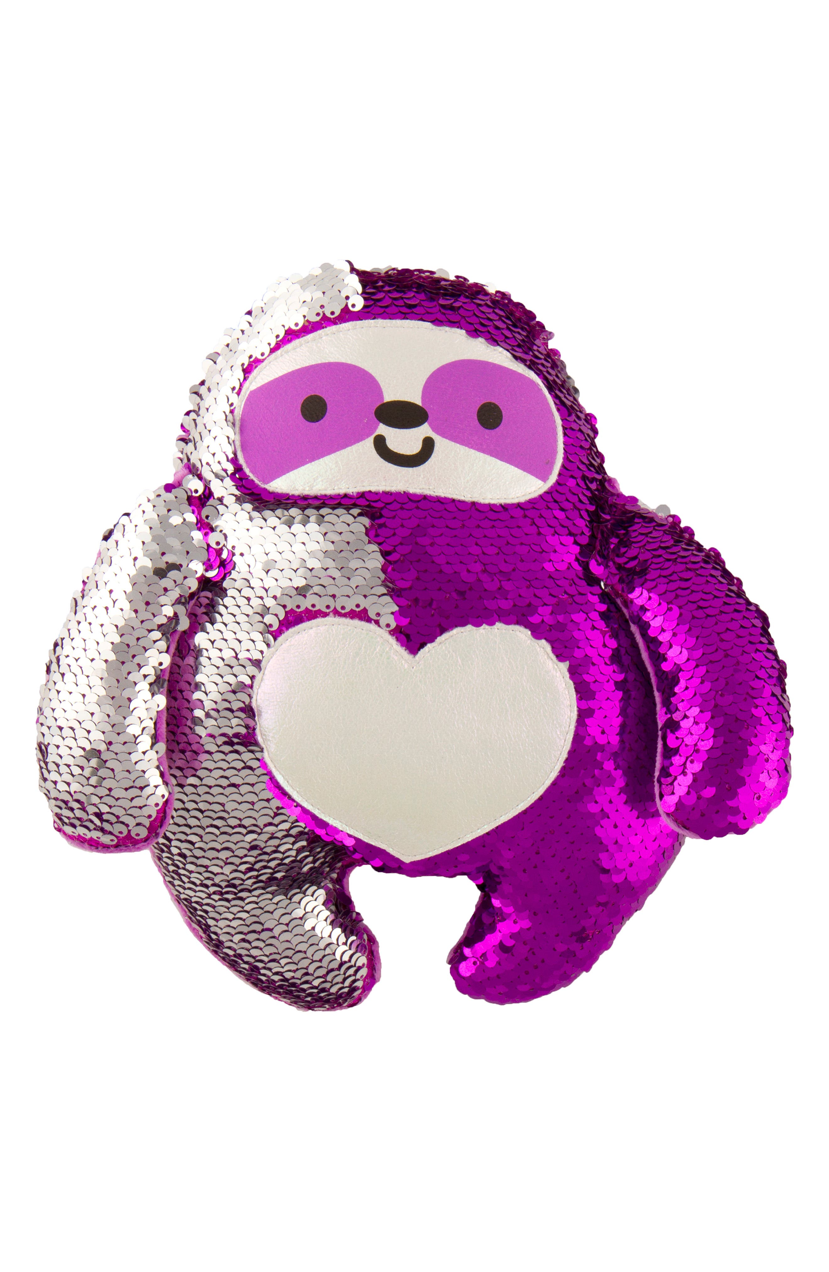 FASHION ANGELS,                             Magic Sequin Sloth Stuffed Animal,                             Alternate thumbnail 3, color,                             PURPLE