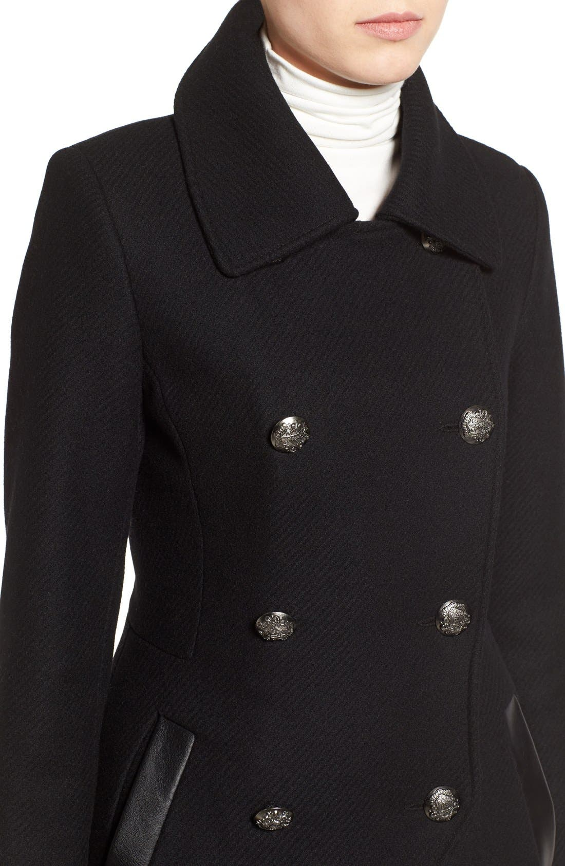 Wool Blend Military Coat,                             Alternate thumbnail 5, color,