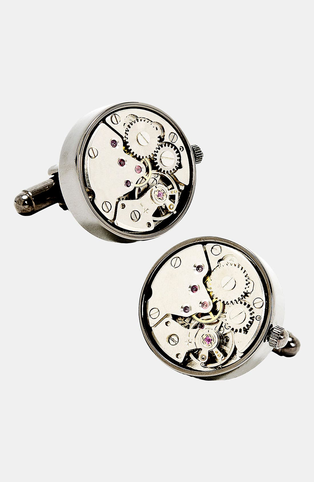 Penny Black 40 Steampunk Watch Movement Cuff Links,                             Main thumbnail 2, color,