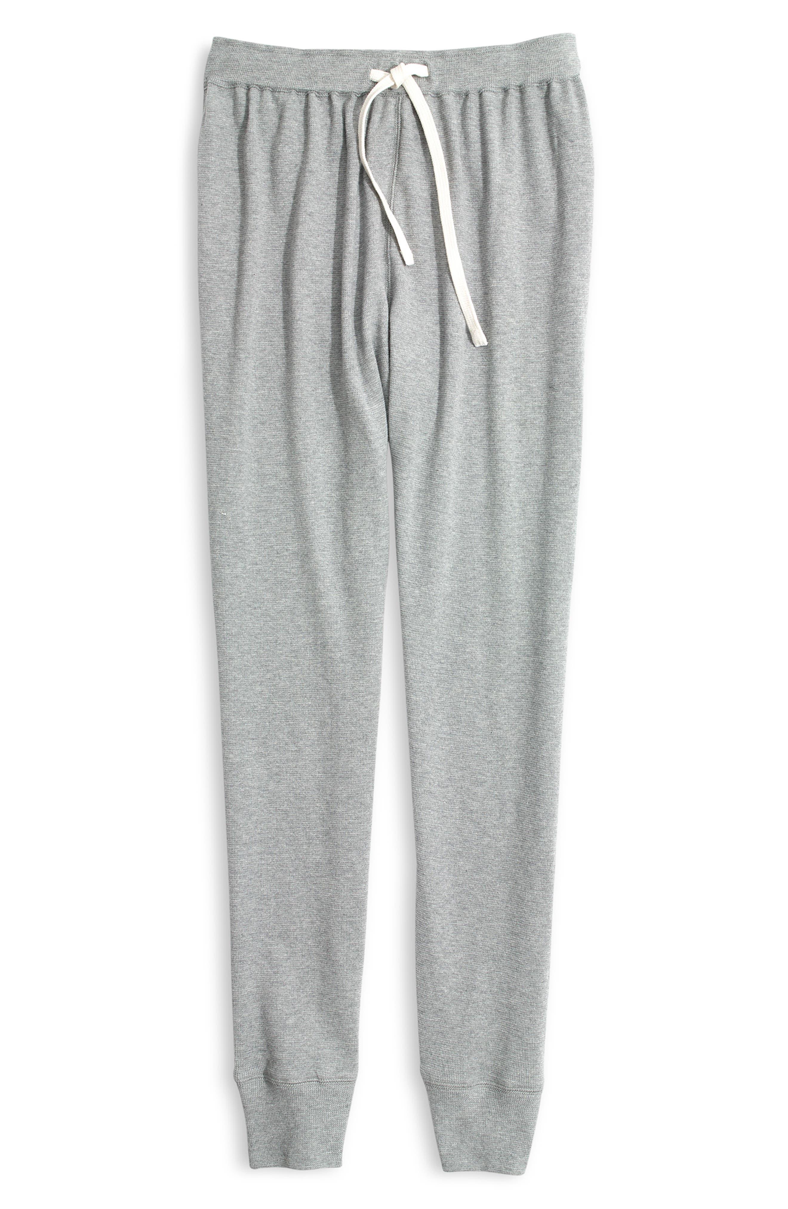 Honeycomb Pajama Sweatpants,                             Alternate thumbnail 5, color,                             HEATHER PEPPER