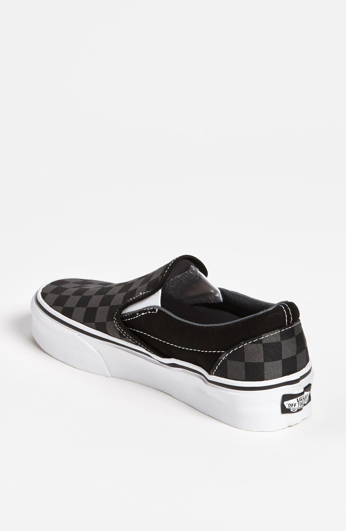 'Classic - Checker' Sneaker,                             Alternate thumbnail 4, color,                             020