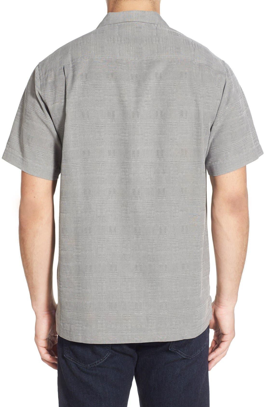 Original Fit Jacquard Silk Camp Shirt,                             Alternate thumbnail 19, color,