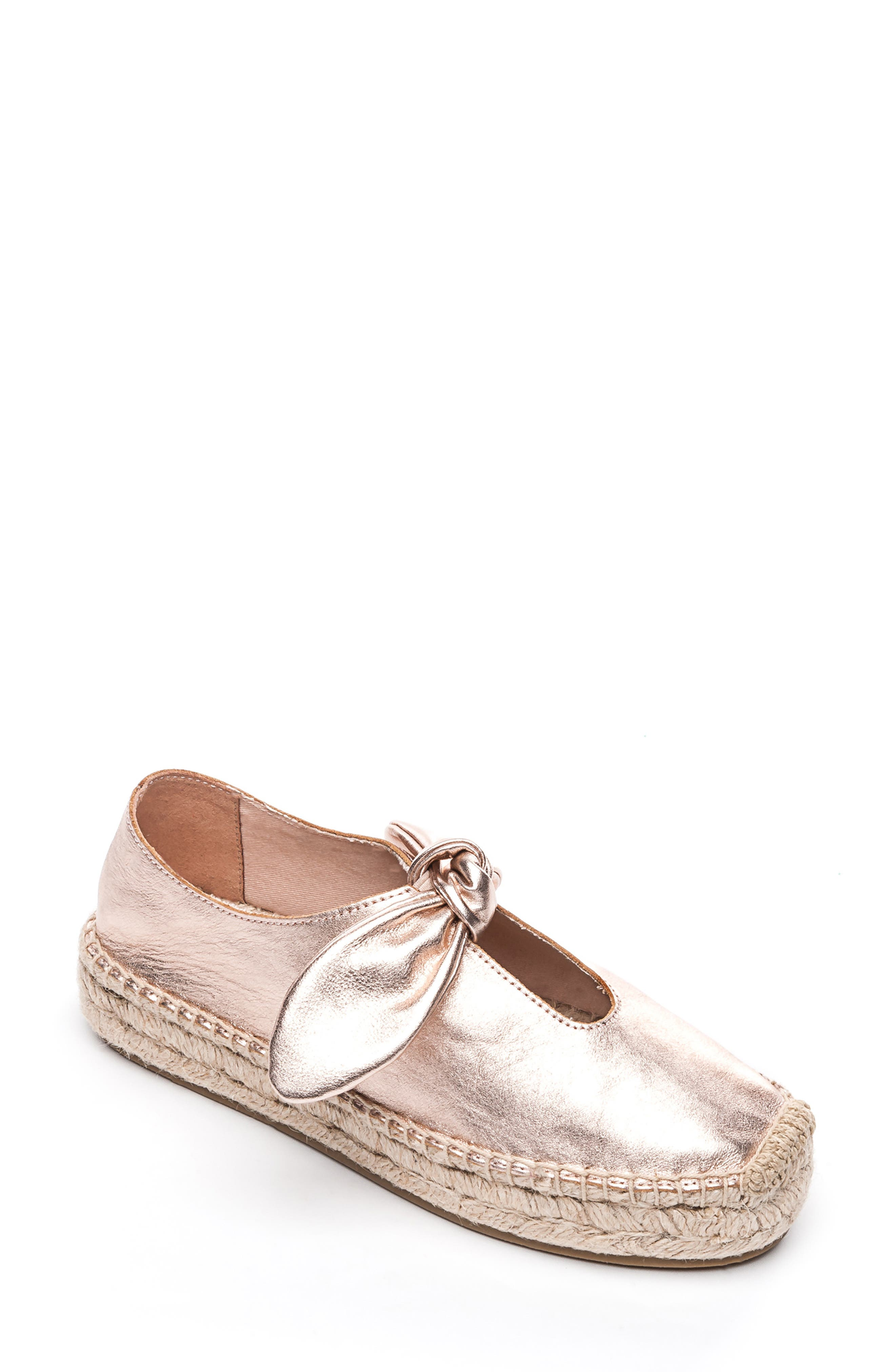 Bernardo Bow Espadrille Slip-On, Metallic