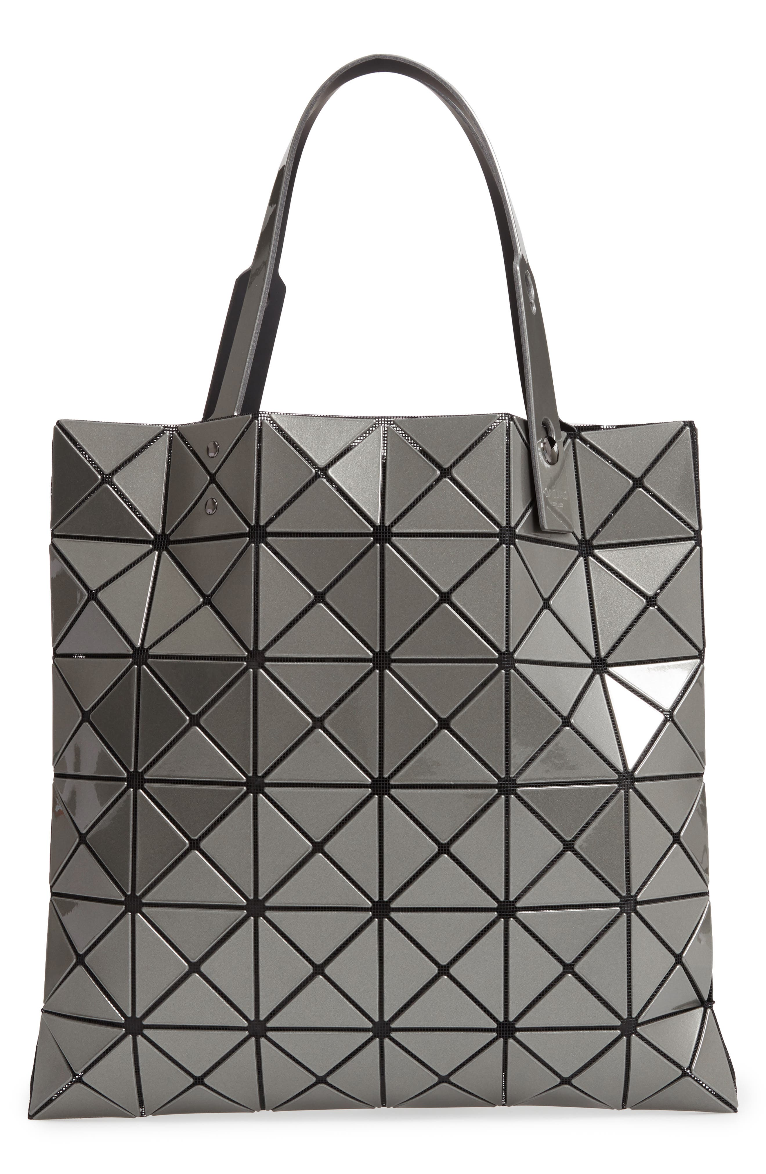 Lucent Metallic Tote Bag - Grey in Gunmetal