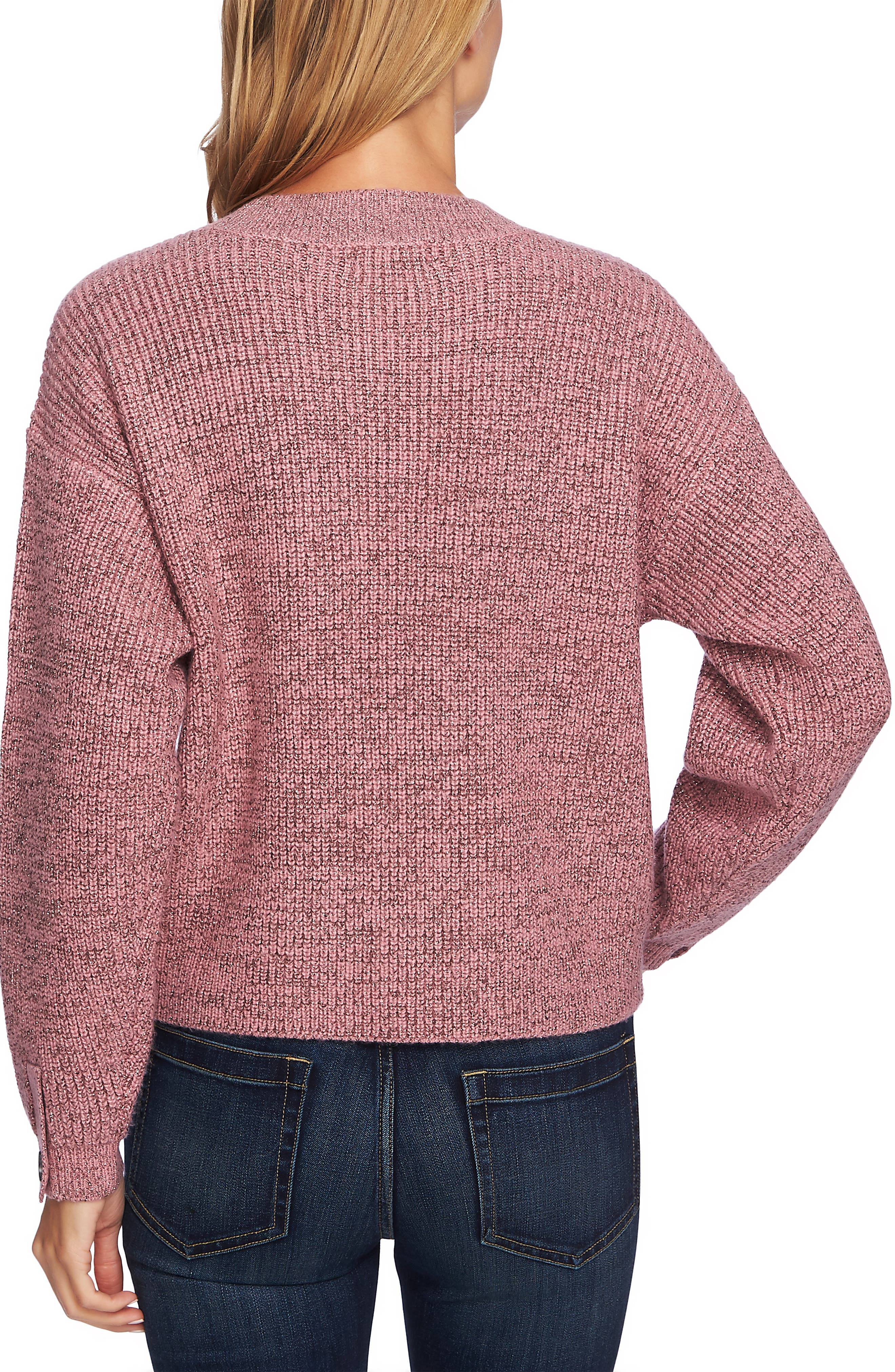 Ribbed Pullover,                             Alternate thumbnail 2, color,                             FOXGLOVE