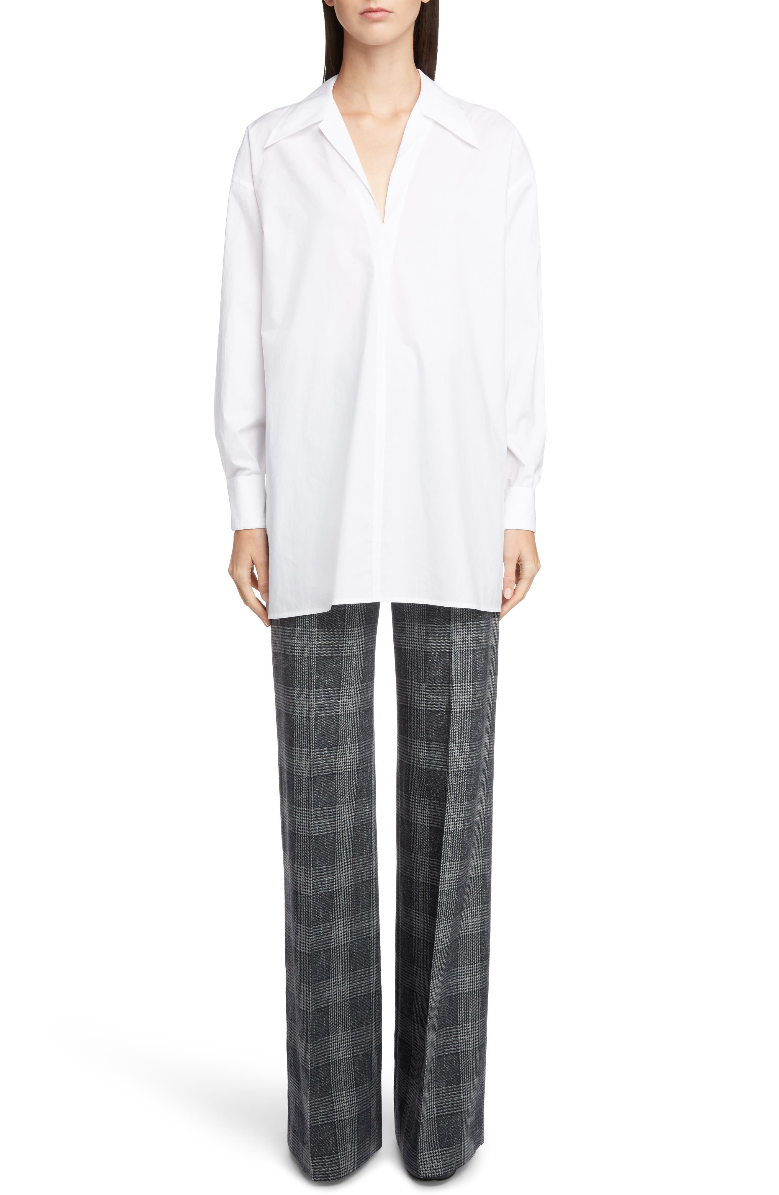 ACNE STUDIOS,                             Spread Collar Shirt,                             Alternate thumbnail 7, color,                             WHITE