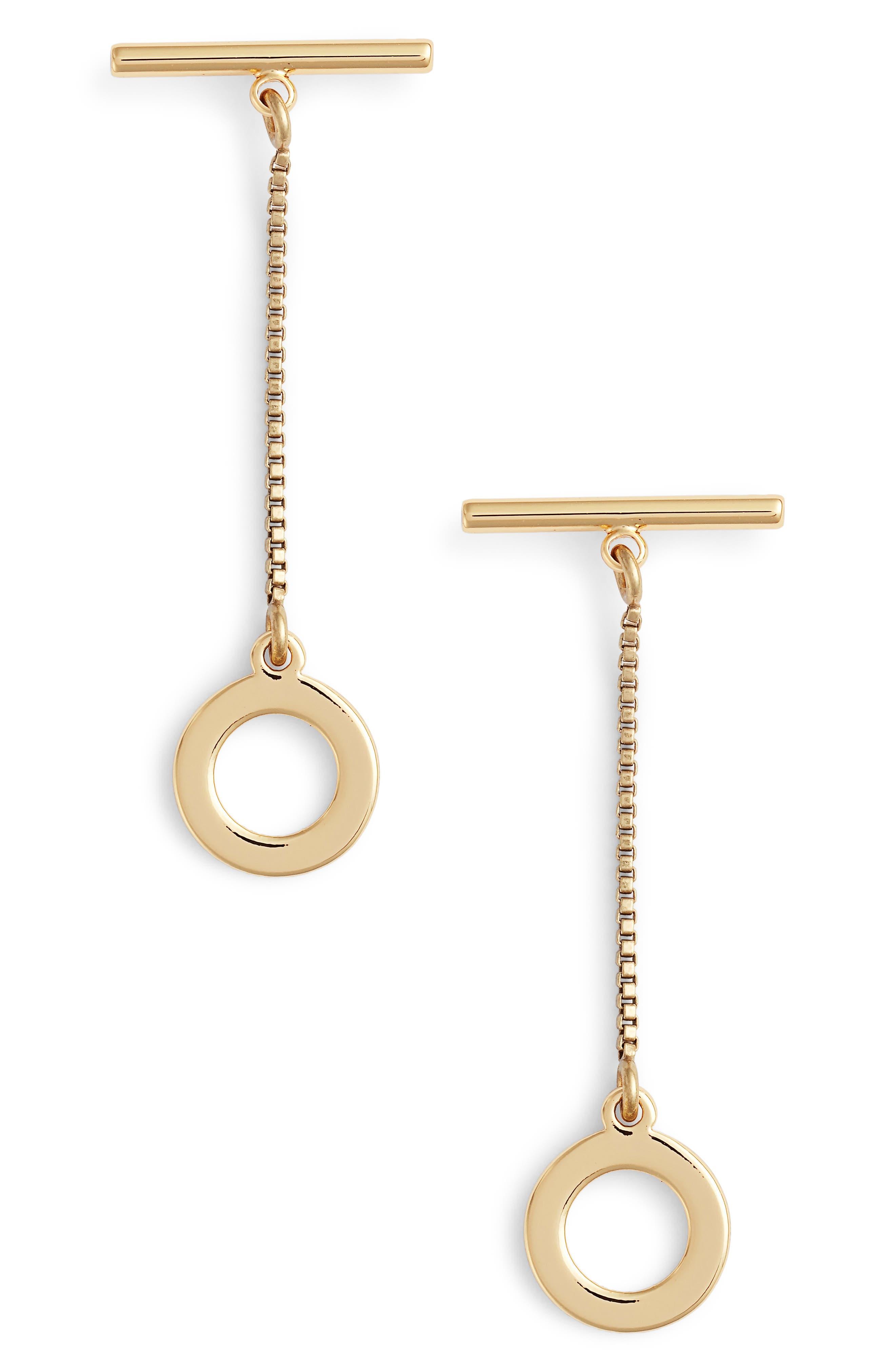 Mimis Hoop Drop Earrings,                         Main,                         color, GOLD
