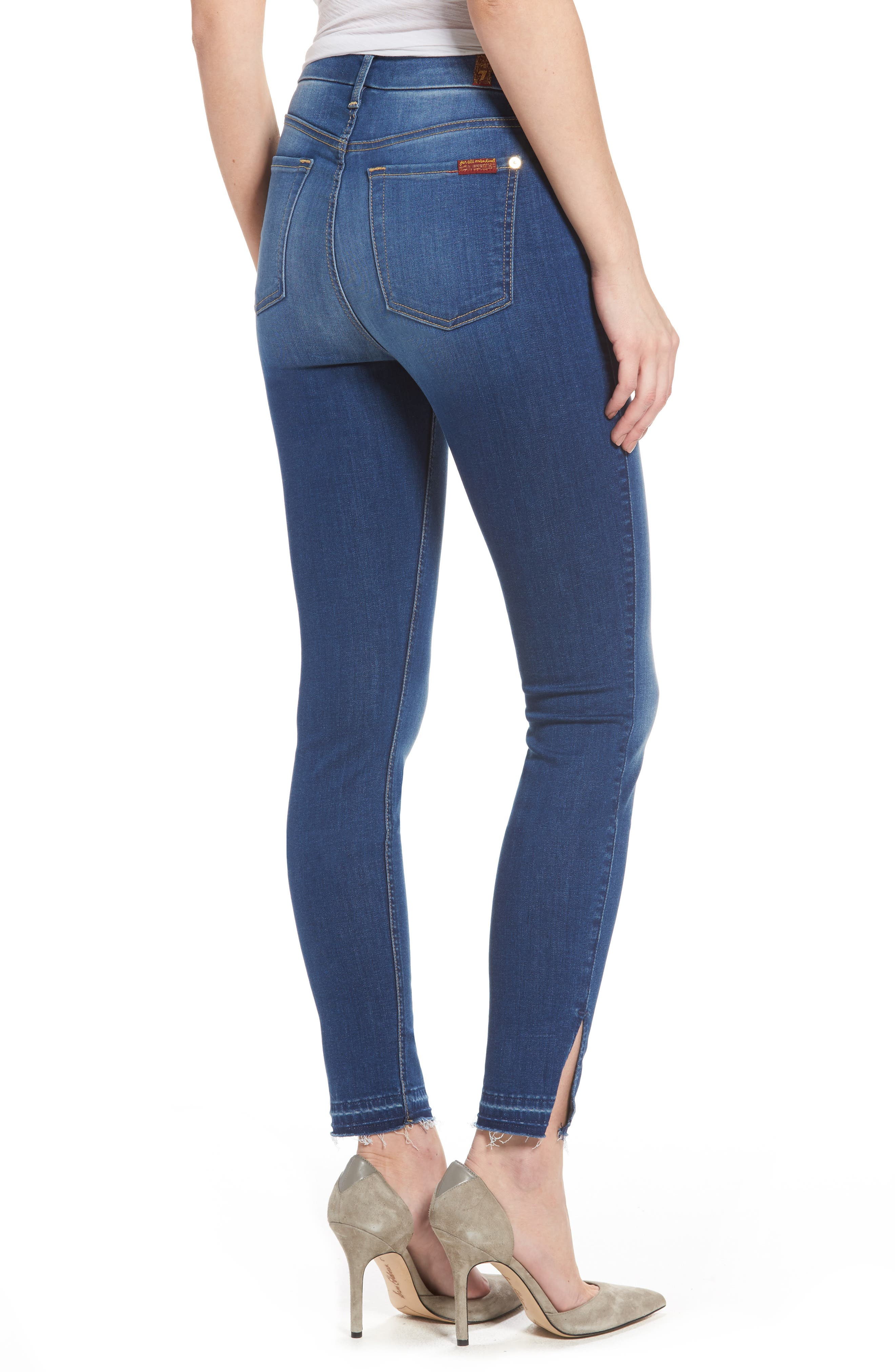 b(air) High Waist Split Hem Skinny Jeans,                             Alternate thumbnail 2, color,                             400