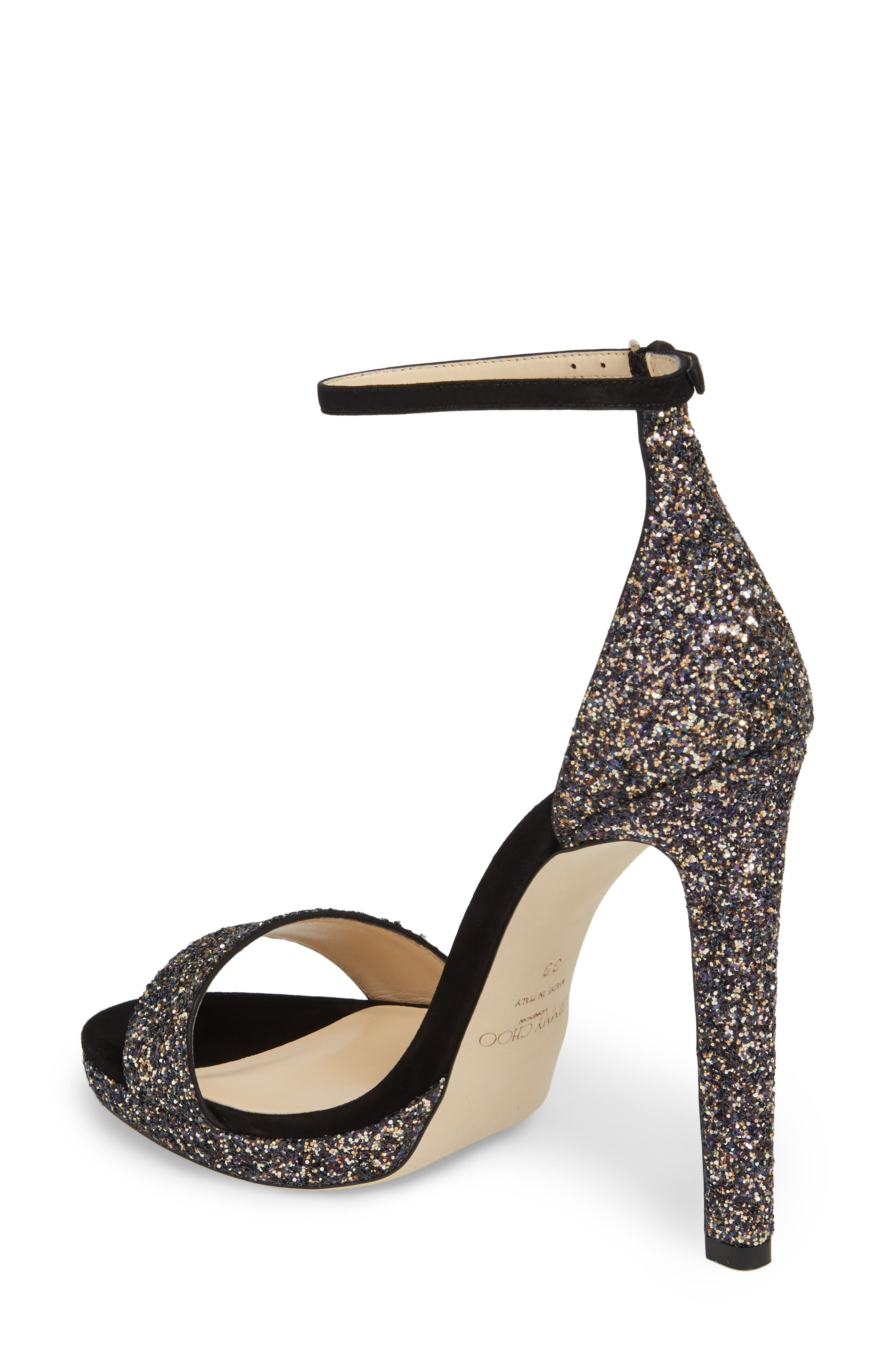 Misty Glitter Platform Sandal,                             Alternate thumbnail 2, color,                             TWILIGHT