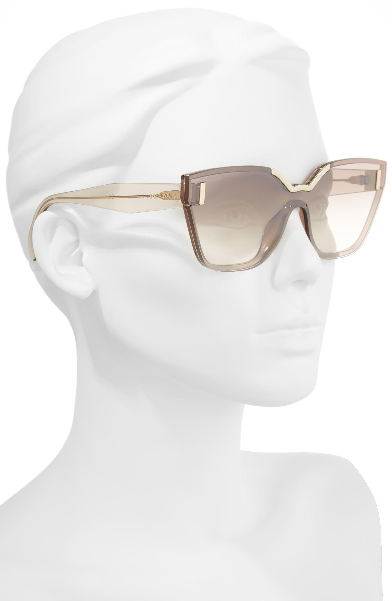 61mm Mirrored Shield Sunglasses,                             Alternate thumbnail 2, color,                             200