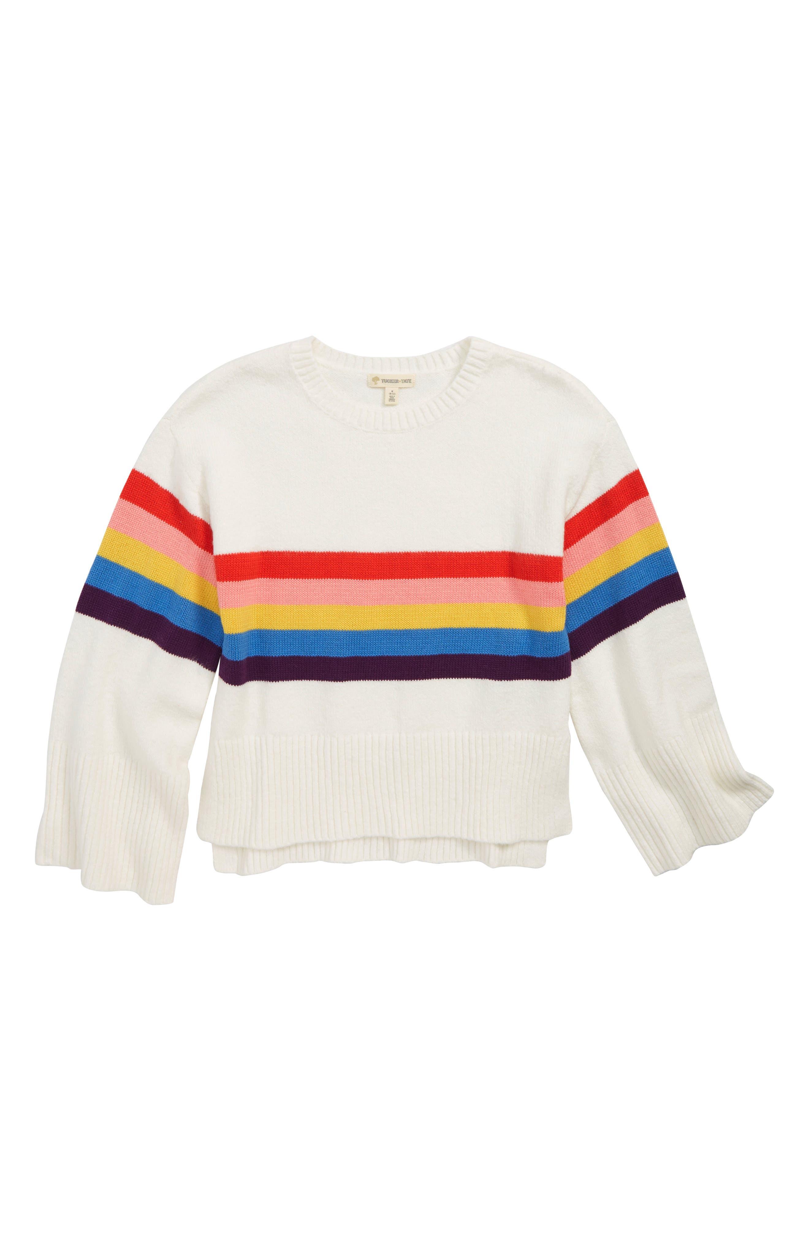 Stripe Drop Shoulder Sweater,                             Main thumbnail 1, color,                             900