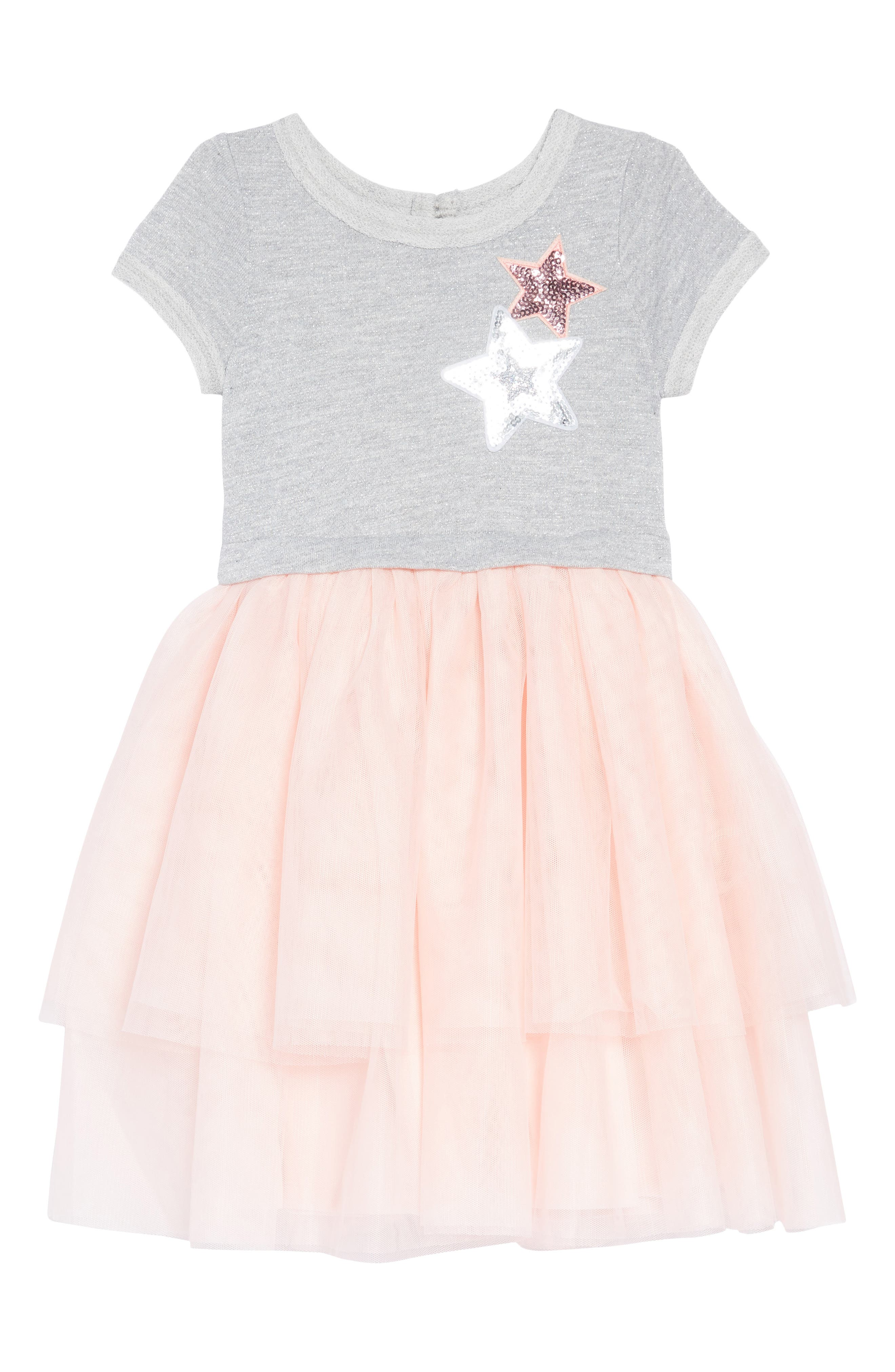 Tiered Tutu Dress,                             Main thumbnail 1, color,                             PINK