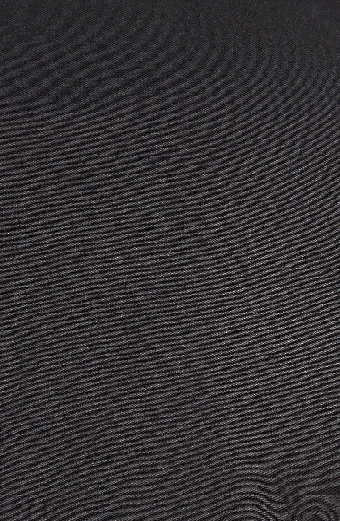 Stretch Cotton Biker Jacket,                             Alternate thumbnail 7, color,                             BLACK